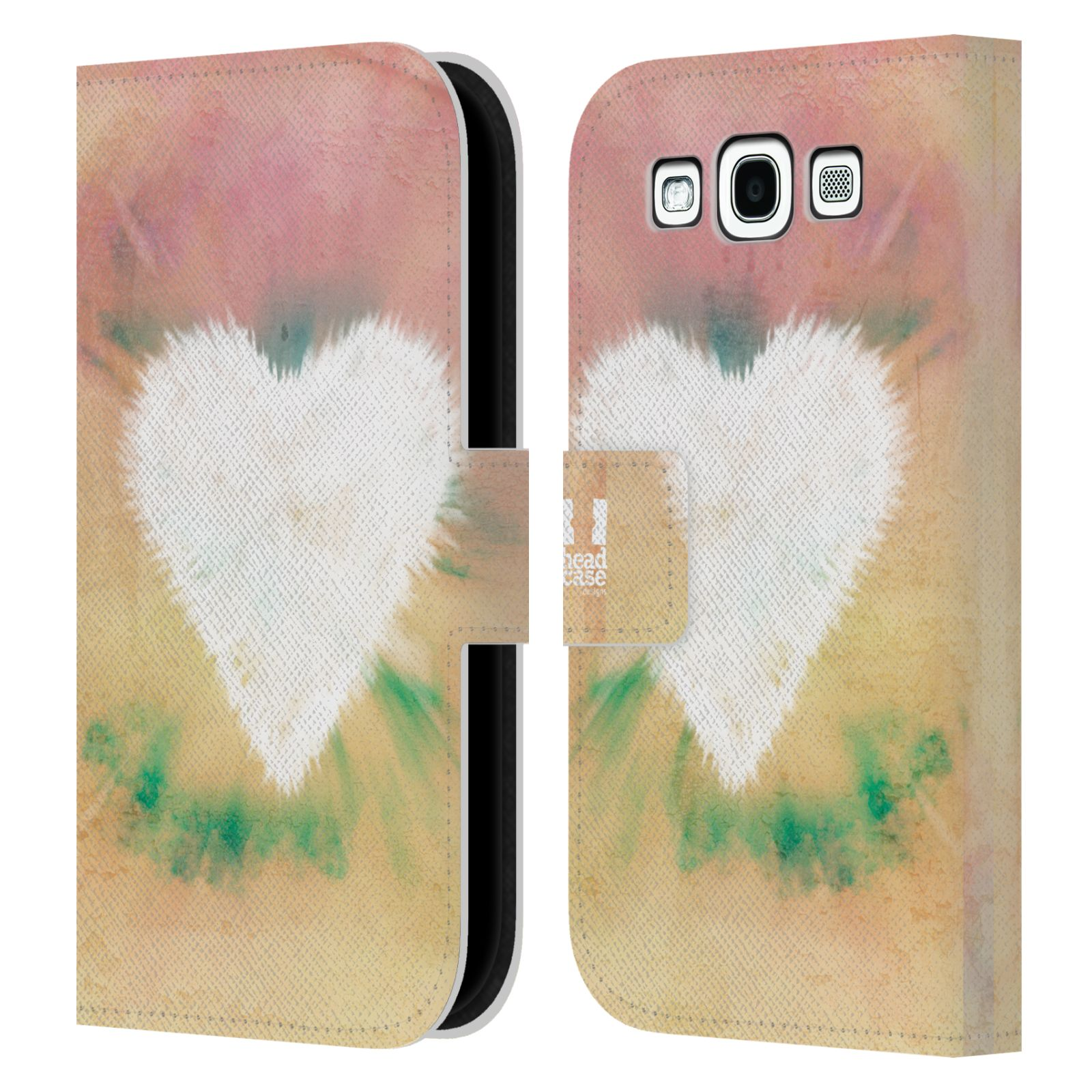 HEAD CASE Flipové pouzdro pro mobil Samsung Galaxy S3 umělecká malba srdíčko