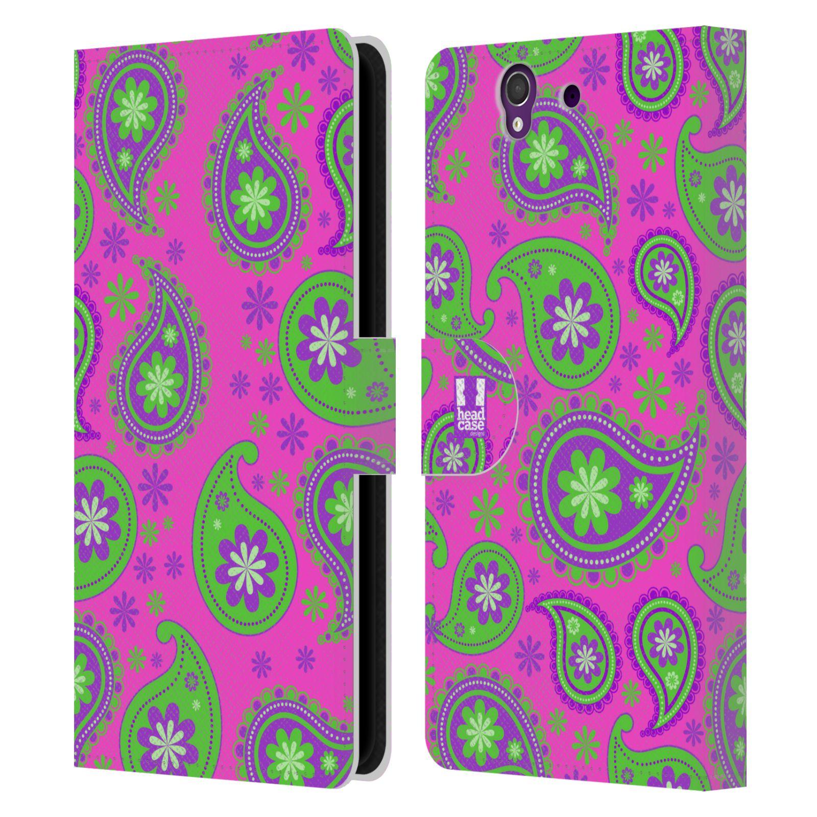 HEAD CASE Flipové pouzdro pro mobil SONY XPERIA Z (C6603) snové slzy fialová