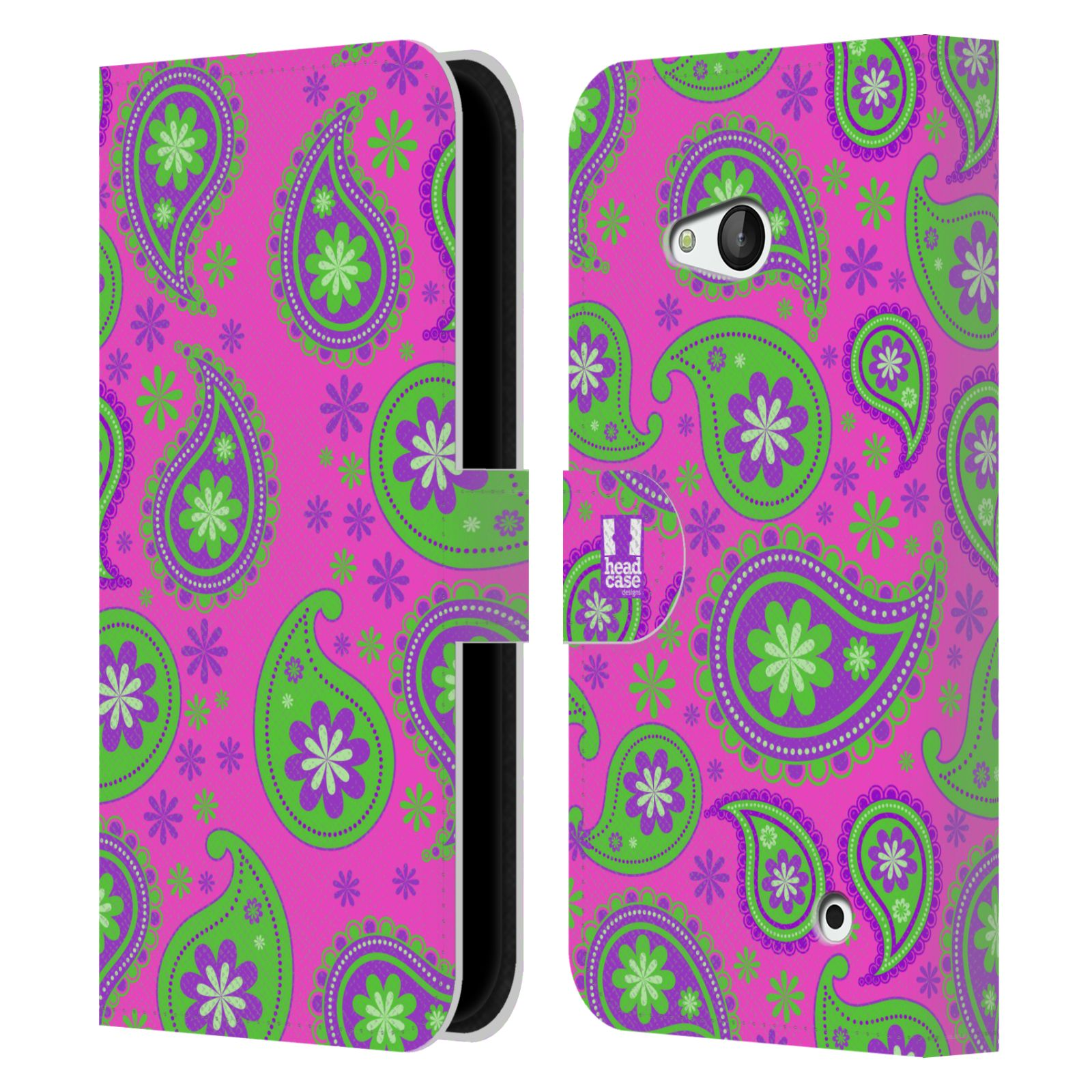 HEAD CASE Flipové pouzdro pro mobil NOKIA / MICROSOFT LUMIA 640 / LUMIA 640 DUAL snové slzy fialová