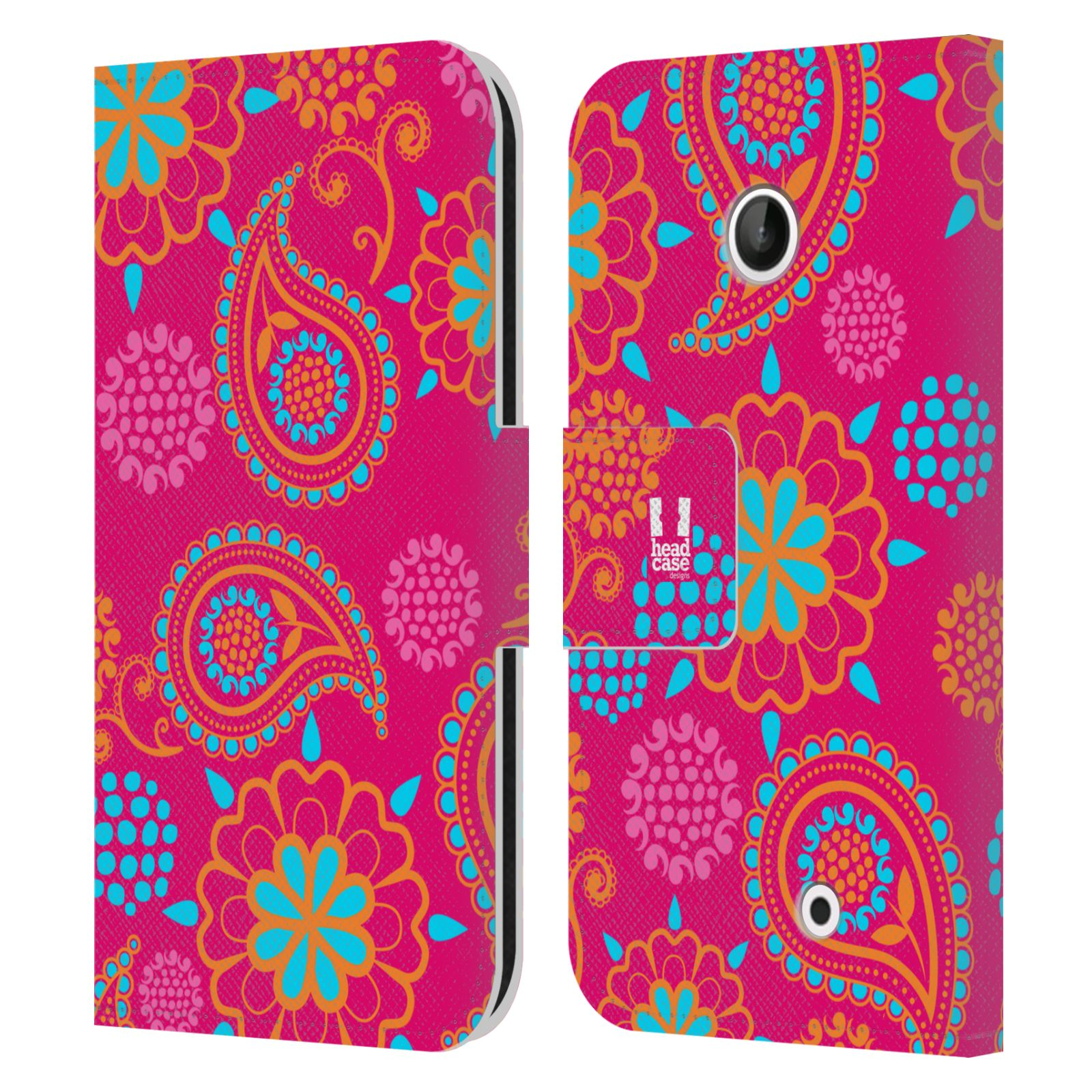 HEAD CASE Flipové pouzdro pro mobil NOKIA LUMIA 630 / LUMIA 630 DUAL snové slzy růžová