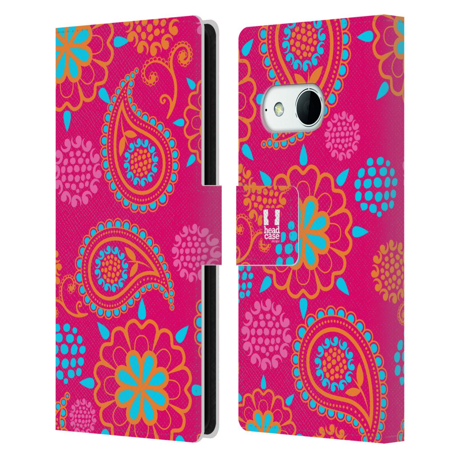 HEAD CASE Flipové pouzdro pro mobil HTC ONE MINI 2 (M8) snové slzy růžová