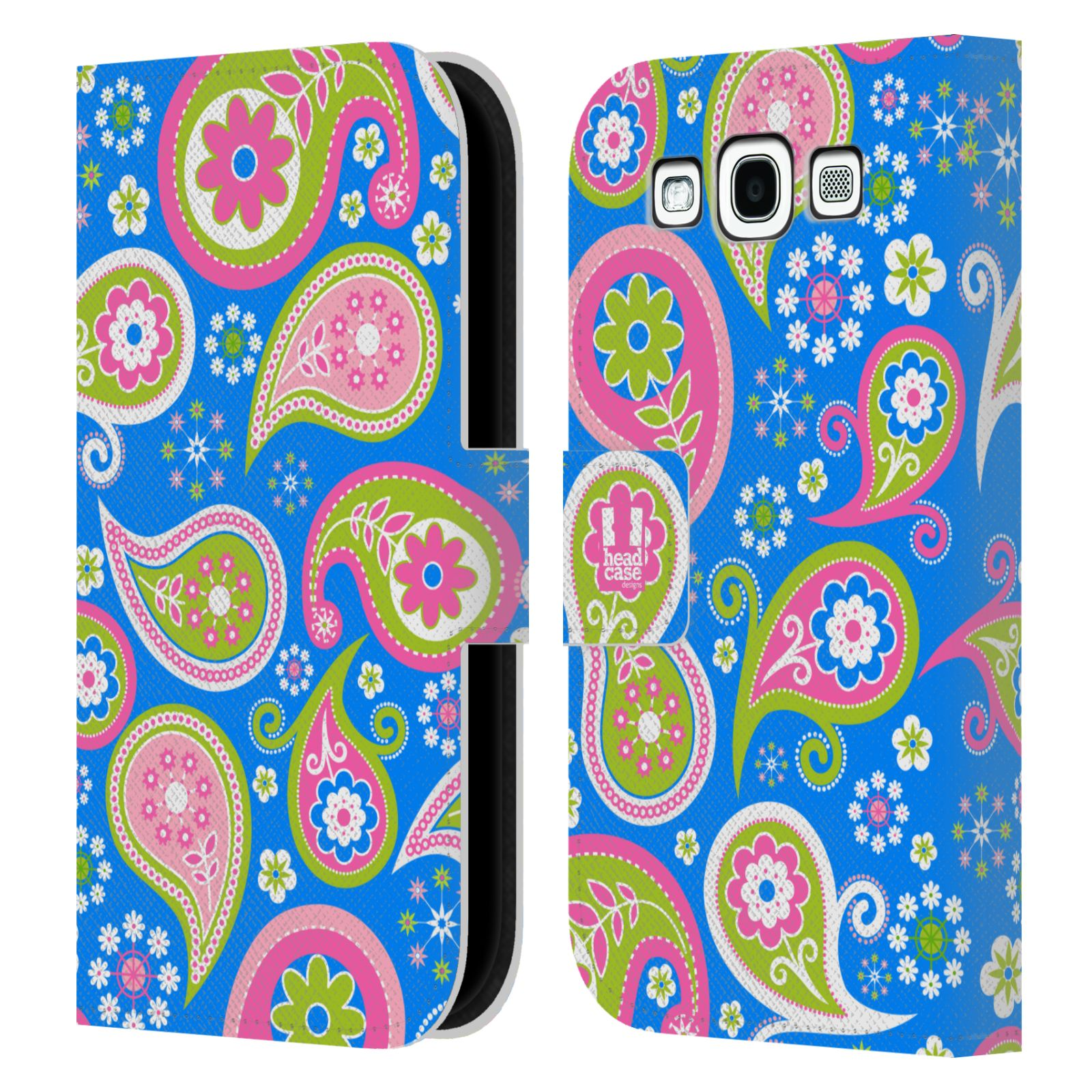 HEAD CASE Flipové pouzdro pro mobil Samsung Galaxy S3 snové slzy modrá