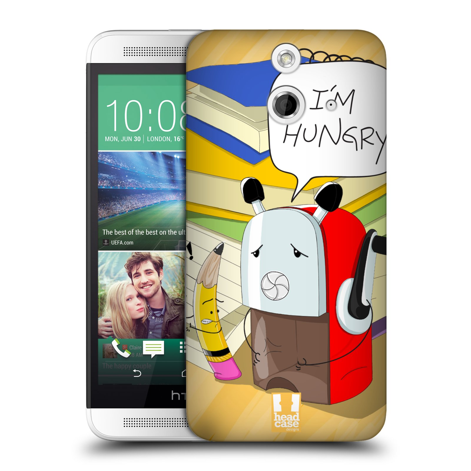 HEAD CASE DESIGNS PUNCHLINES HARD BACK CASE FOR HTC ONE E8 LTE