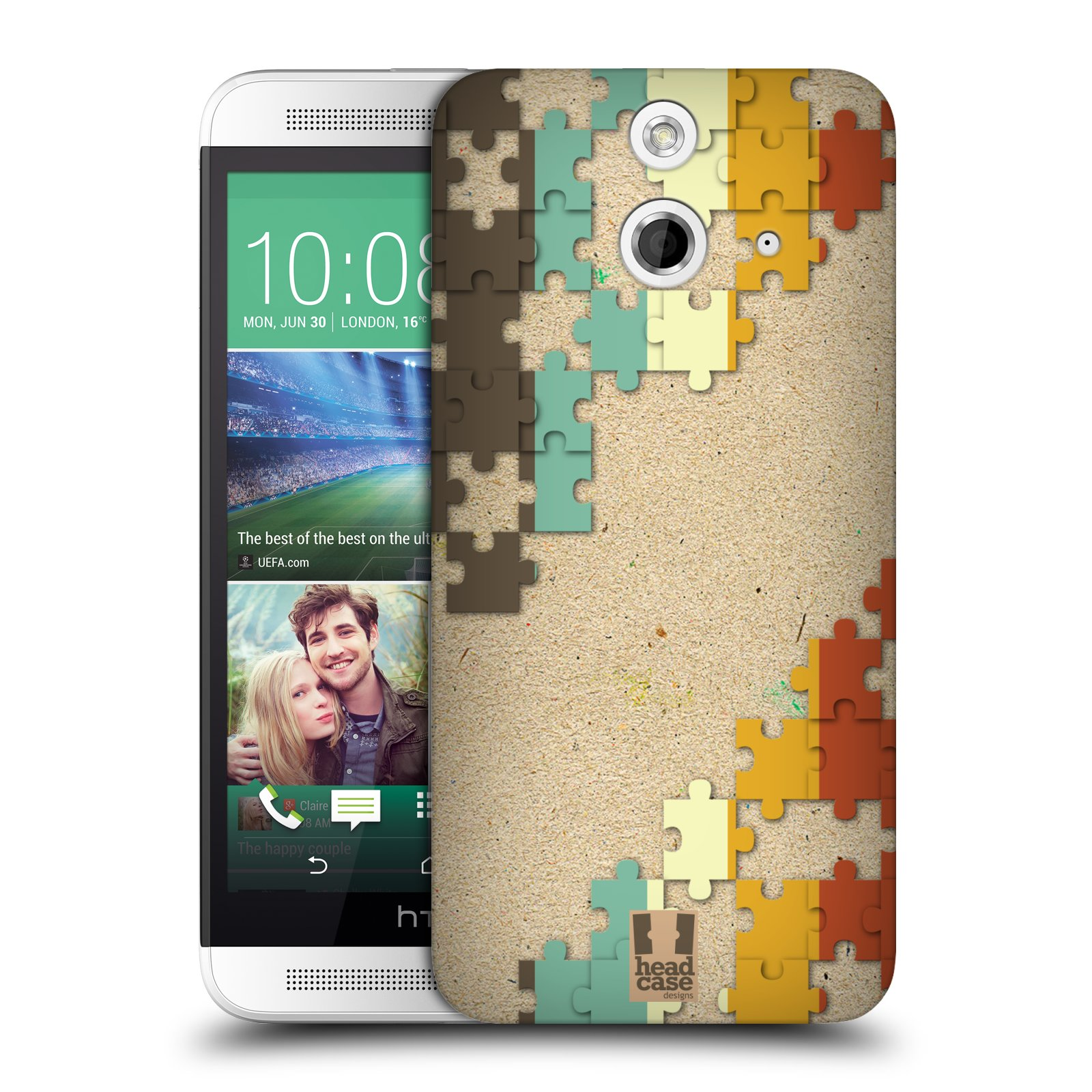 HEAD CASE DESIGNS PUZZLE PIECES HARD BACK CASE FOR HTC ONE E8 DUAL SIM