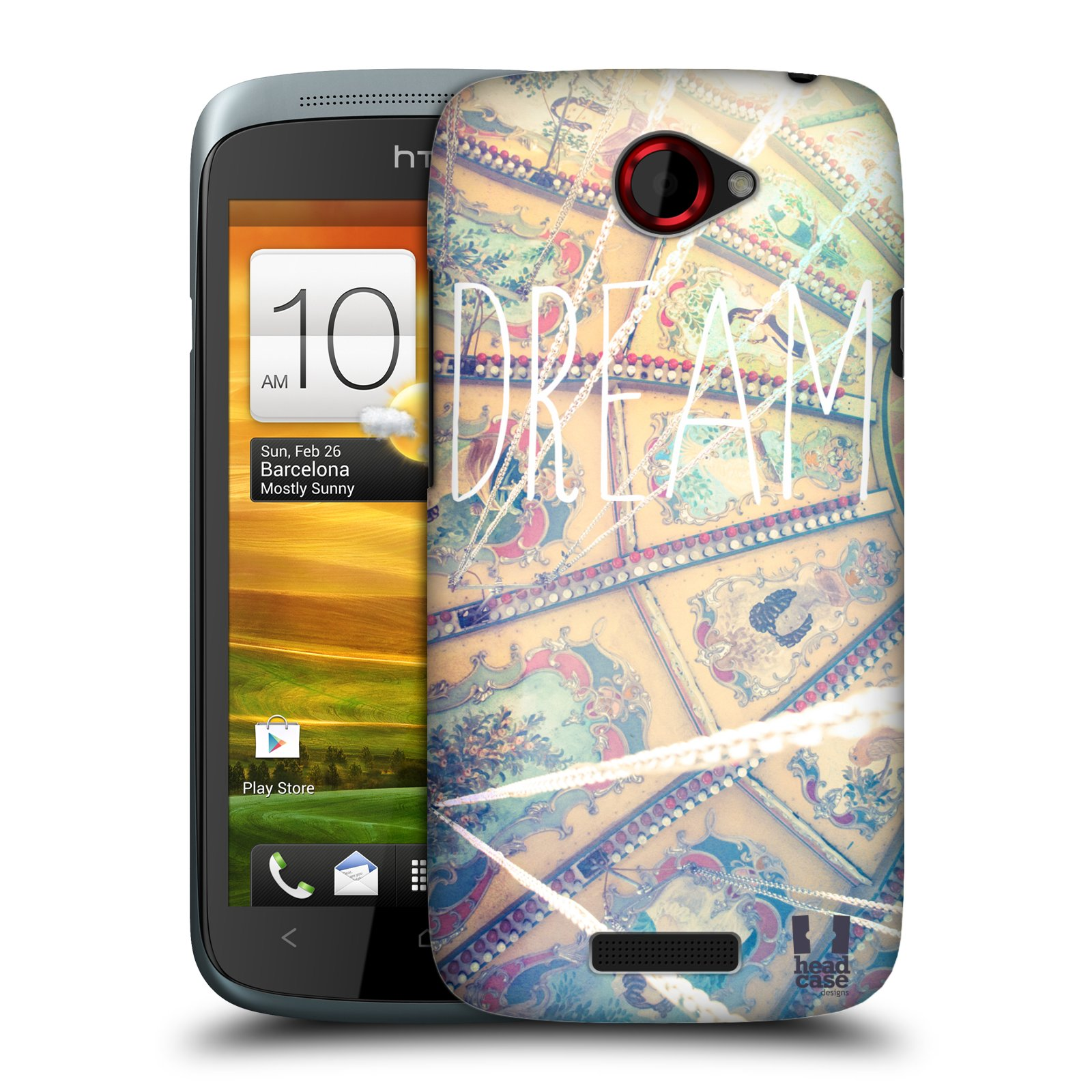 HEAD CASE DESIGNS POSITIVE VIBES SERIES 1 CASE COVER FOR HTC ONE S
