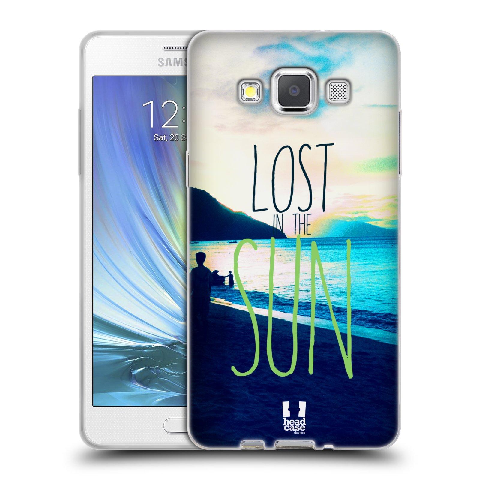 HEAD CASE silikonový obal na mobil Samsung Galaxy A5 vzor Pozitivní vlny MODRÁ, moře, slunce a pláž LOST IN THE SUN
