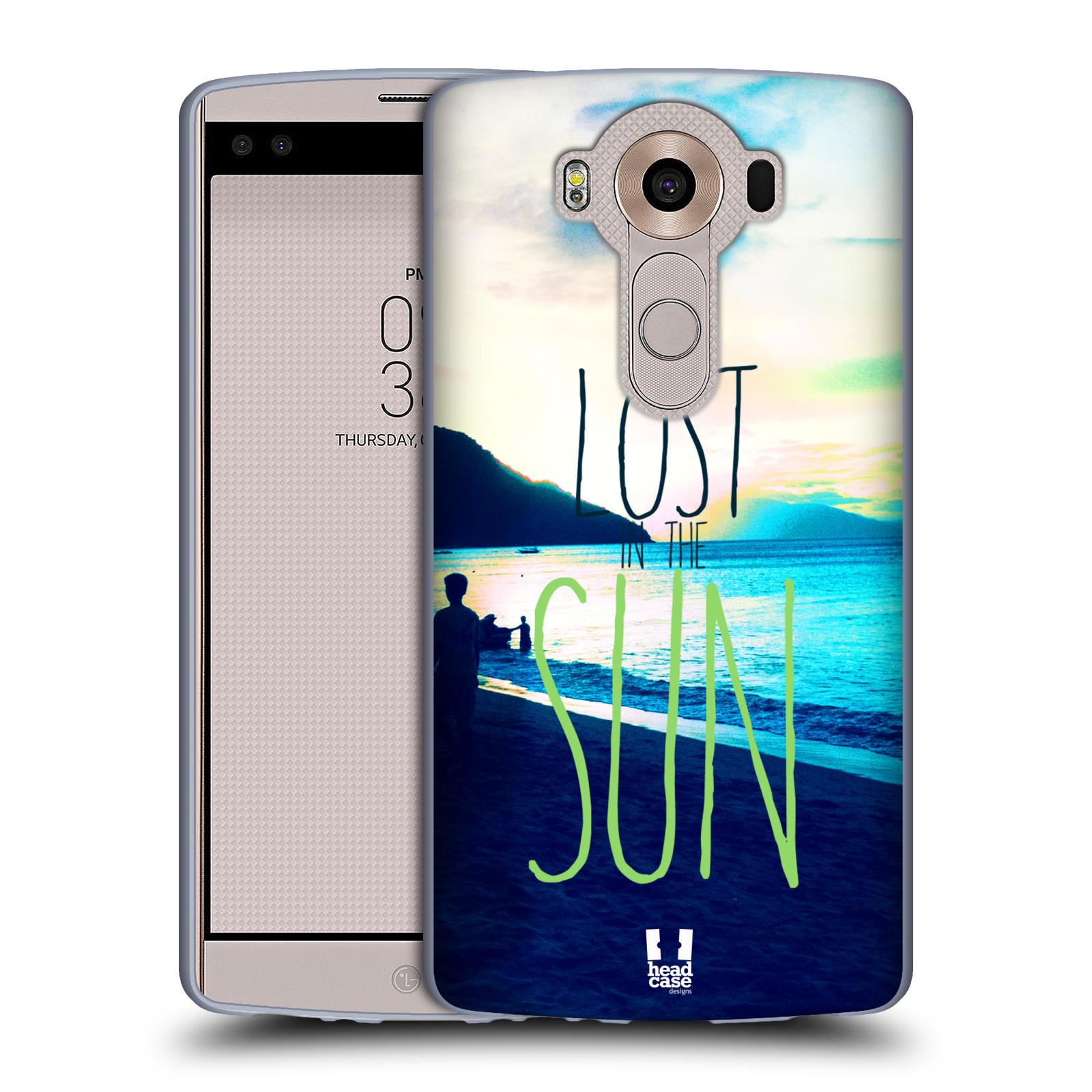 HEAD CASE silikonový obal na mobil LG V10 (H960A) vzor Pozitivní vlny MODRÁ, moře, slunce a pláž LOST IN THE SUN