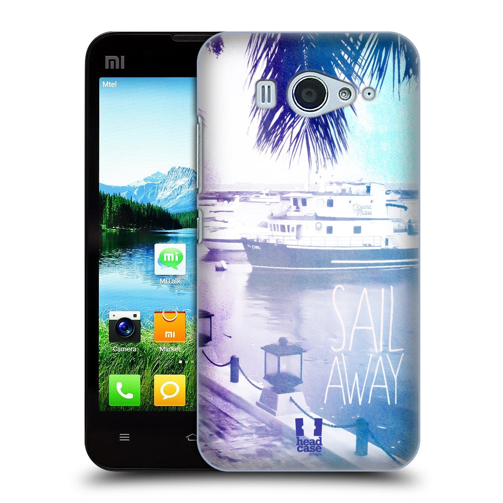 HEAD CASE pevný plastový obal na mobil XIAOMI MI2s vzor Pozitivní vlny MODRÁ, přístav s loděmi SAIL AWAY