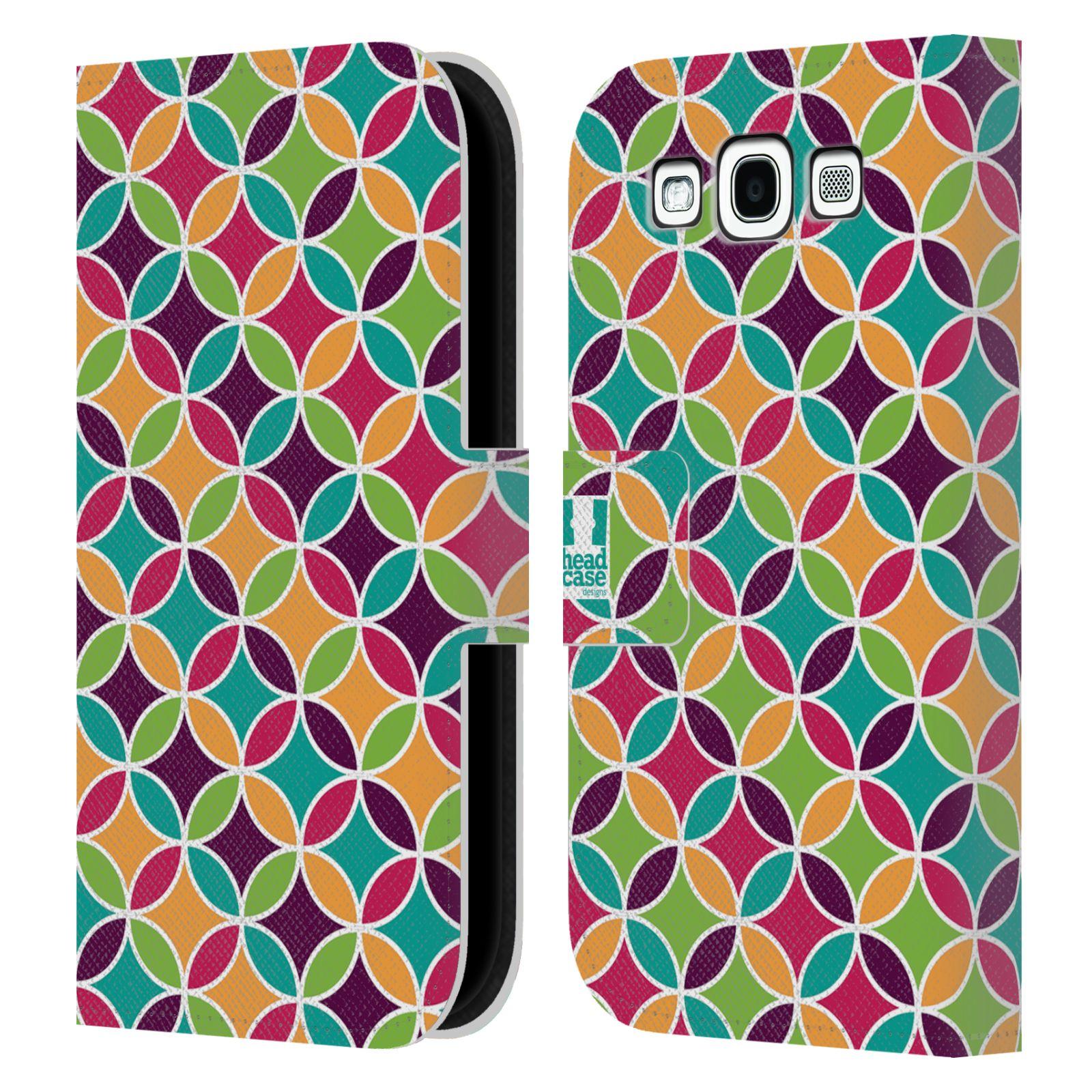 HEAD CASE Flipové pouzdro pro mobil Samsung Galaxy S3 sněženka barevné kruhy