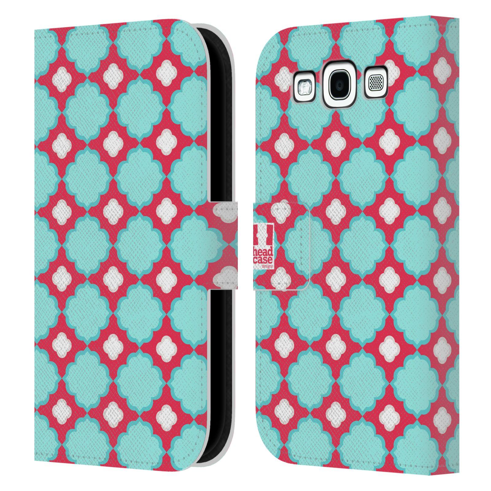 HEAD CASE Flipové pouzdro pro mobil Samsung Galaxy S3 sněženka modrá a růžová