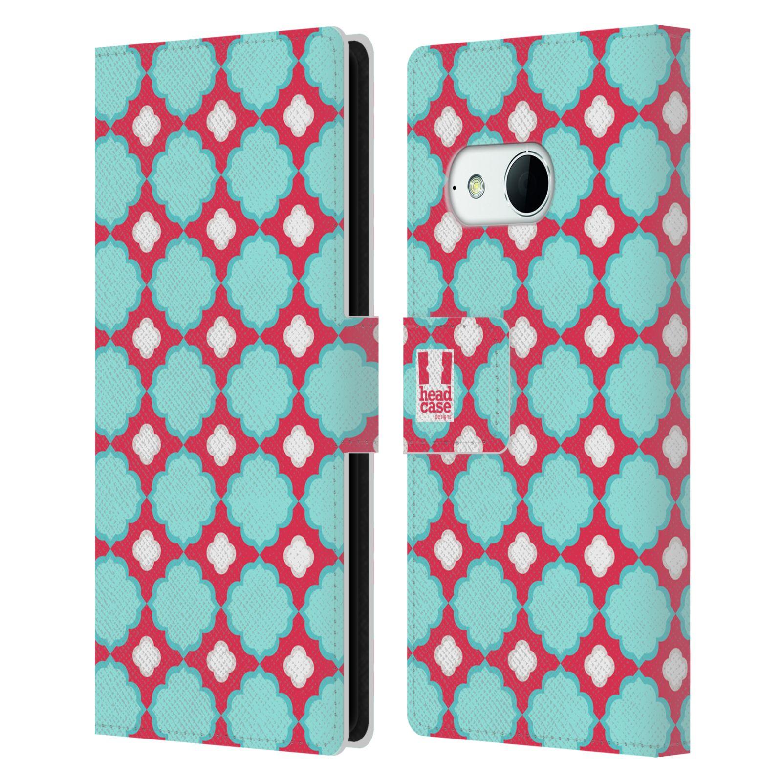 HEAD CASE Flipové pouzdro pro mobil HTC ONE MINI 2 (M8) sněženka modrá a růžová