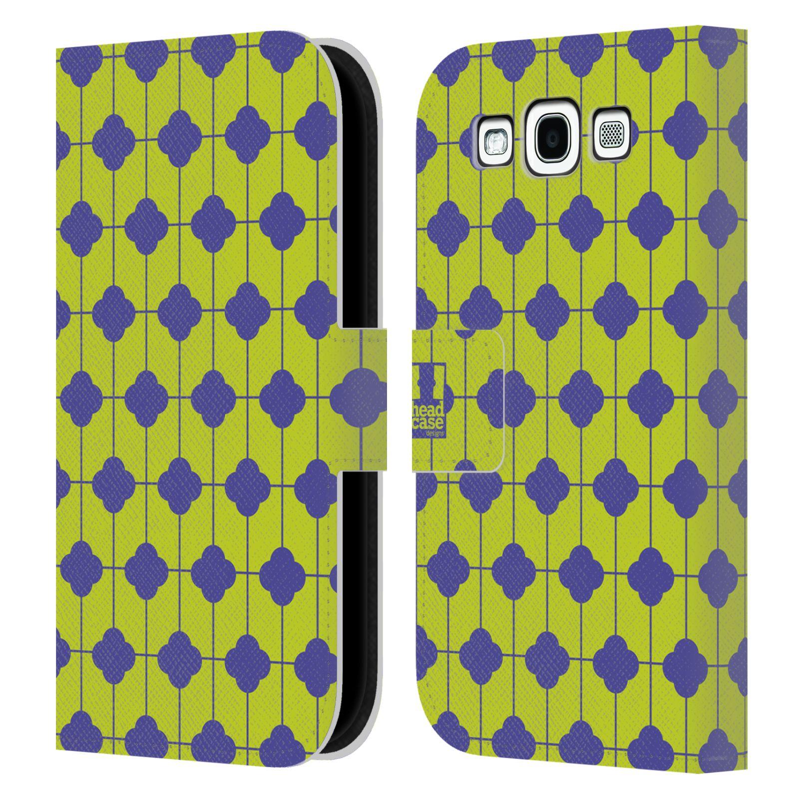 HEAD CASE Flipové pouzdro pro mobil Samsung Galaxy S3 sněženka modrá a zelená