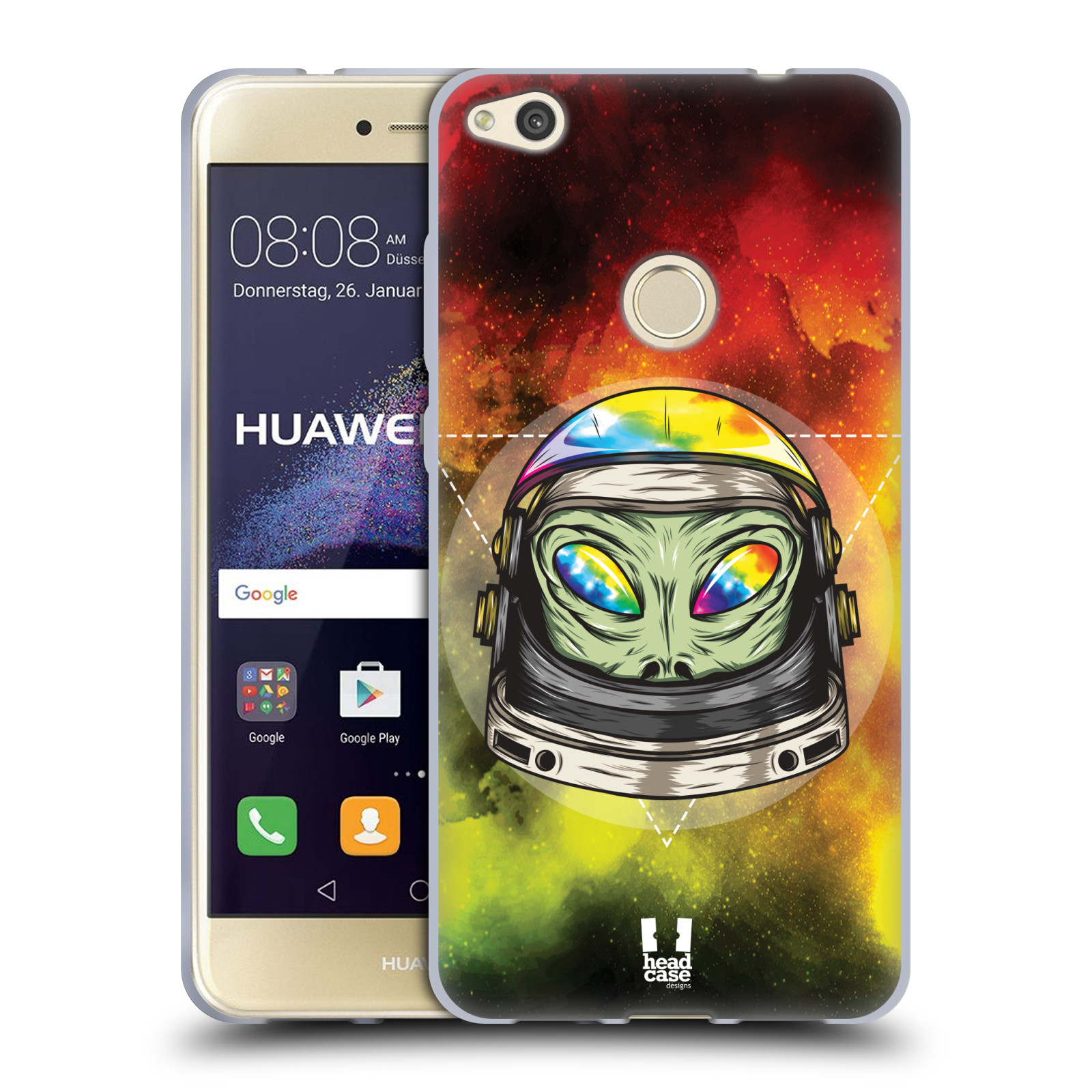 HEAD-CASE-DESIGNS-RAINBOW-ASTRONAUT-SOFT-GEL-CASE-FOR-HUAWEI-P8-LITE-2017