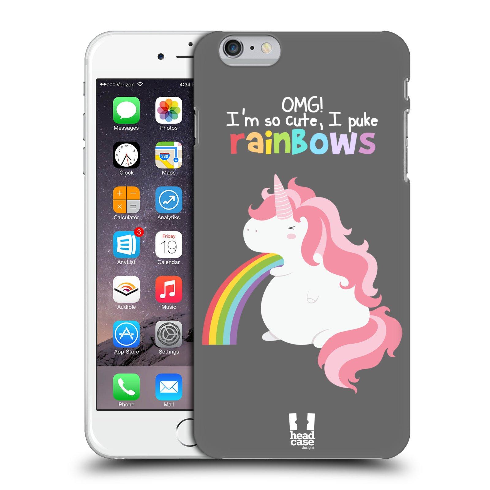 HEAD CASE DESIGNS RAINBOW PUKE CASE COVER FOR APPLE iPHONE 6 PLUS 5.5