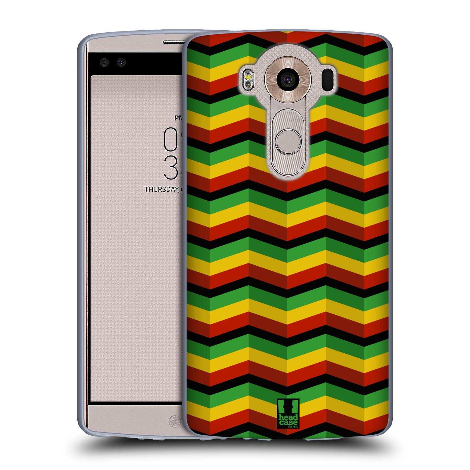 HEAD CASE silikonový obal na mobil LG V10 (H960A) vzor Rasta barevné vzory CHEVRON
