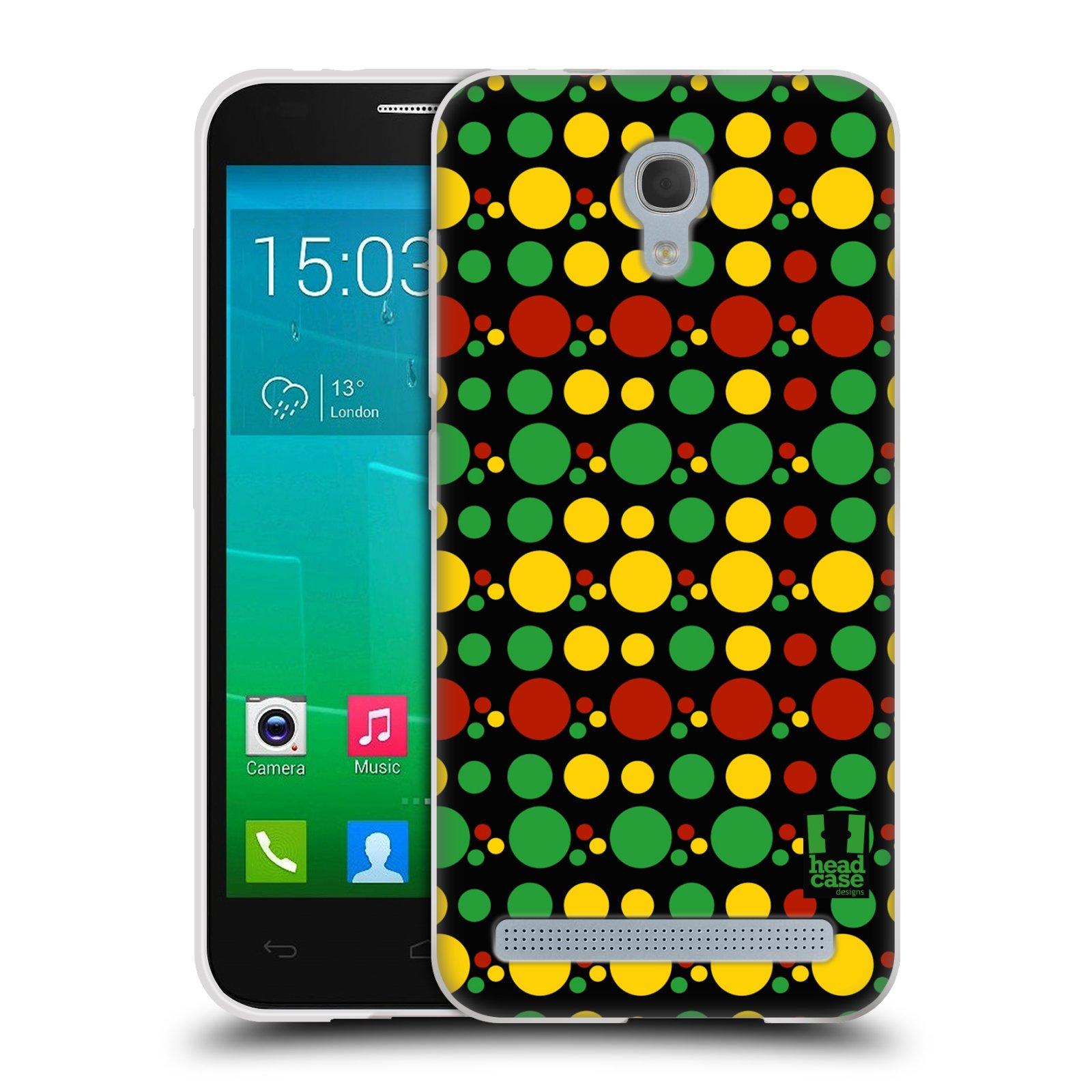 HEAD CASE silikonový obal na mobil Alcatel Idol 2 MINI S 6036Y vzor Rasta barevné vzory KRUHY
