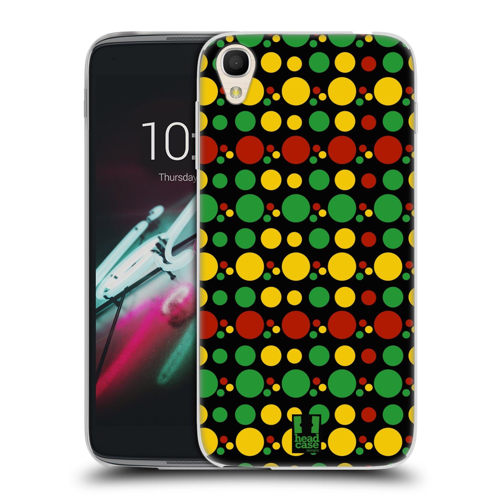 HEAD CASE silikonový obal na mobil Alcatel Idol 3 OT-6039Y (4.7) vzor Rasta barevné vzory KRUHY