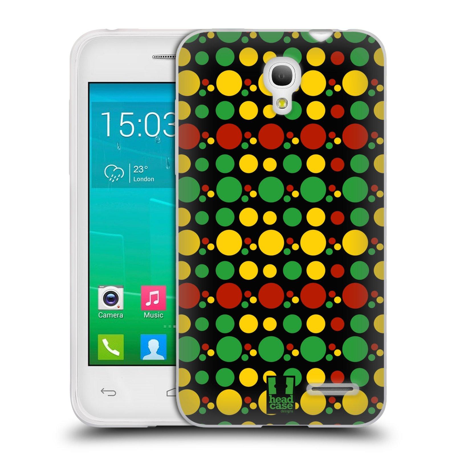 HEAD CASE silikonový obal na mobil Alcatel POP S3 OT-5050Y vzor Rasta barevné vzory KRUHY