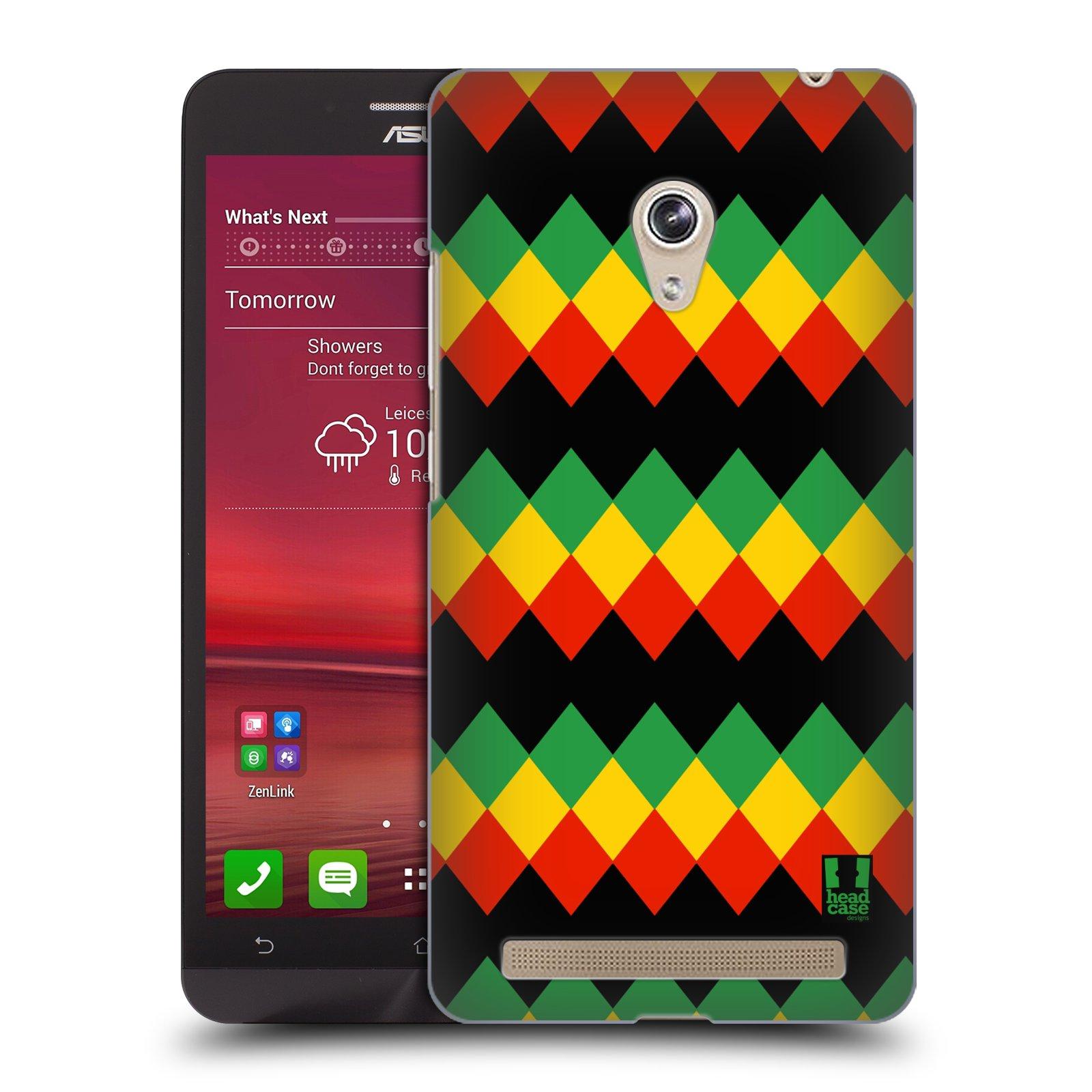 HEAD CASE plastový obal na mobil Asus Zenfone 6 vzor Rasta barevné vzory DIAMANT