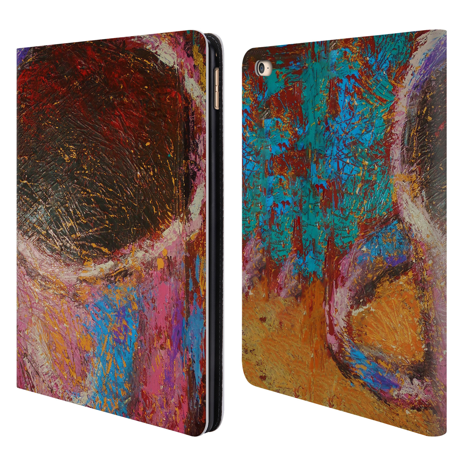 Book Cover Painting : Official rock demarco painted art leather book wallet case