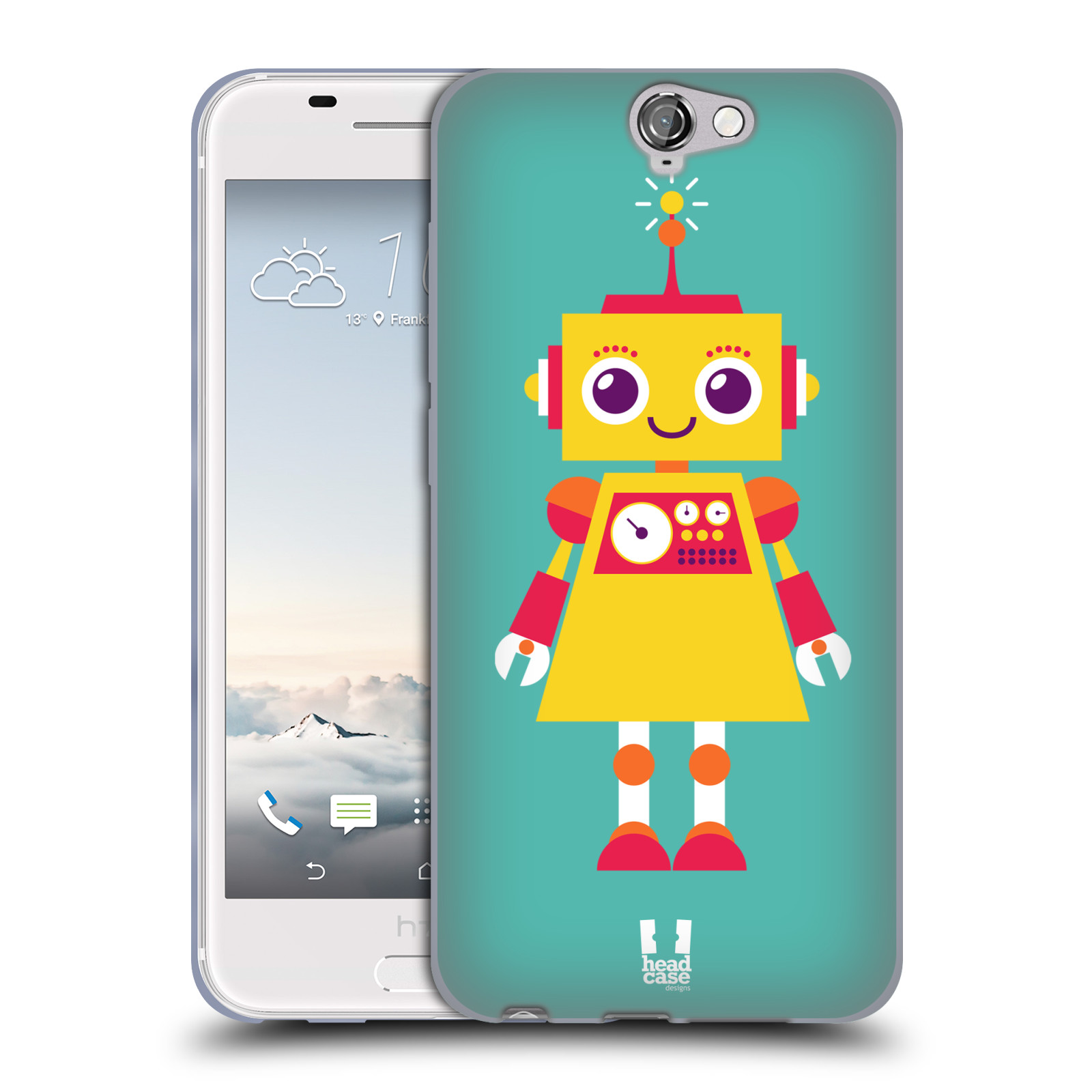 head case designs robot kids soft gel case for htc one a9 - Disegni Case Bambini