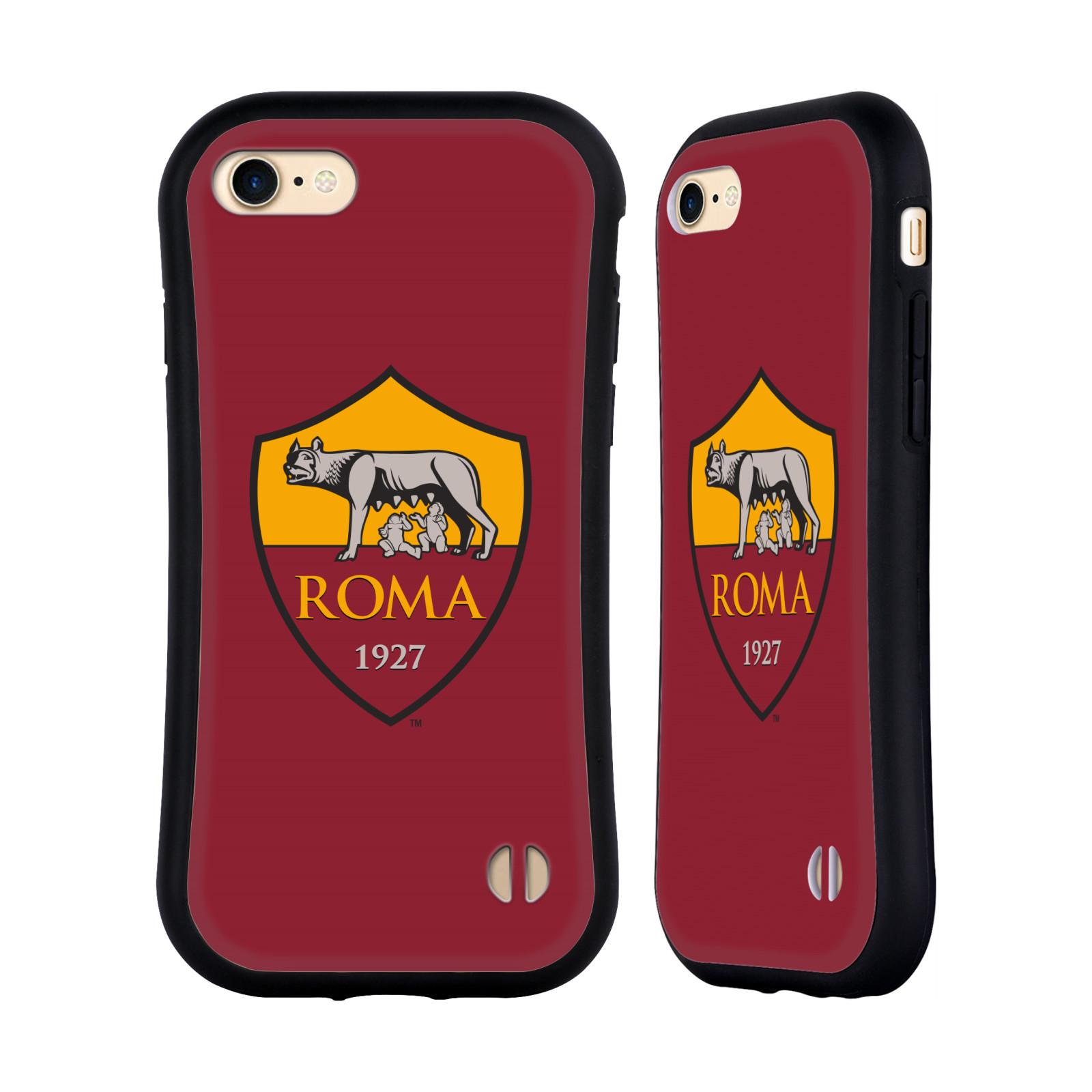 HEAD CASE odolný obal na mobil Apple Iphone 8 Fotbalový klub AS ŘÍM znak červené pozadí