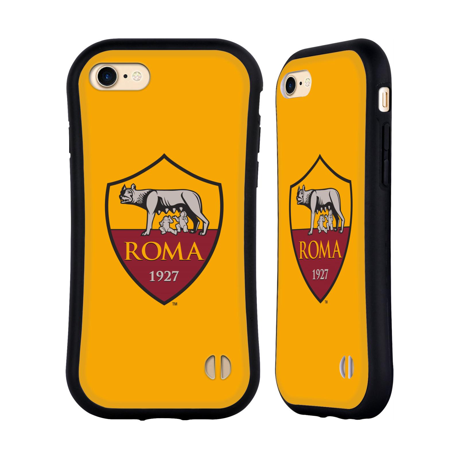 HEAD CASE odolný obal na mobil Apple Iphone 8 Fotbalový klub AS ŘÍM znak žluté pozadí