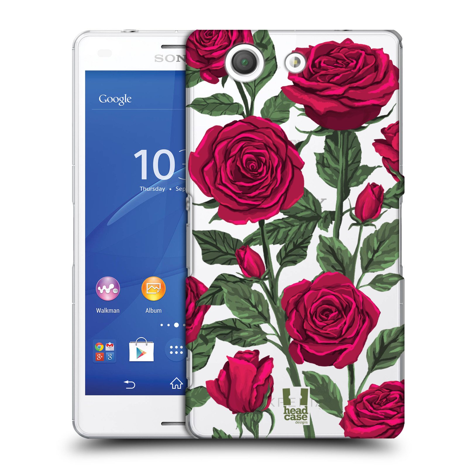 Pouzdro na mobil Sony Xperia Z3 COMPACT - HEAD CASE - květina růže