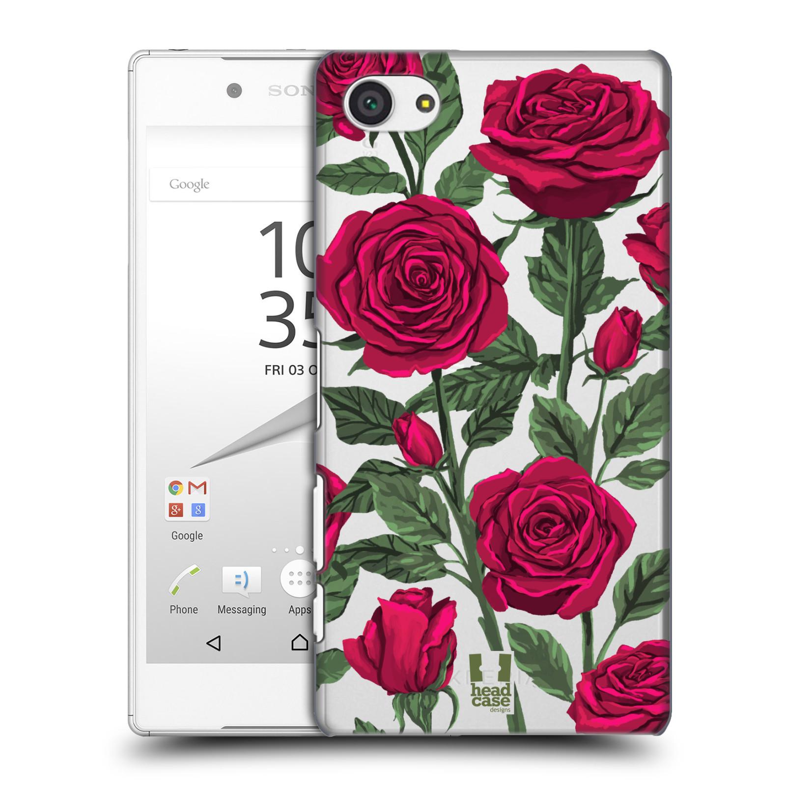 Pouzdro na mobil Sony Xperia Z5 COMPACT - HEAD CASE - květina růže