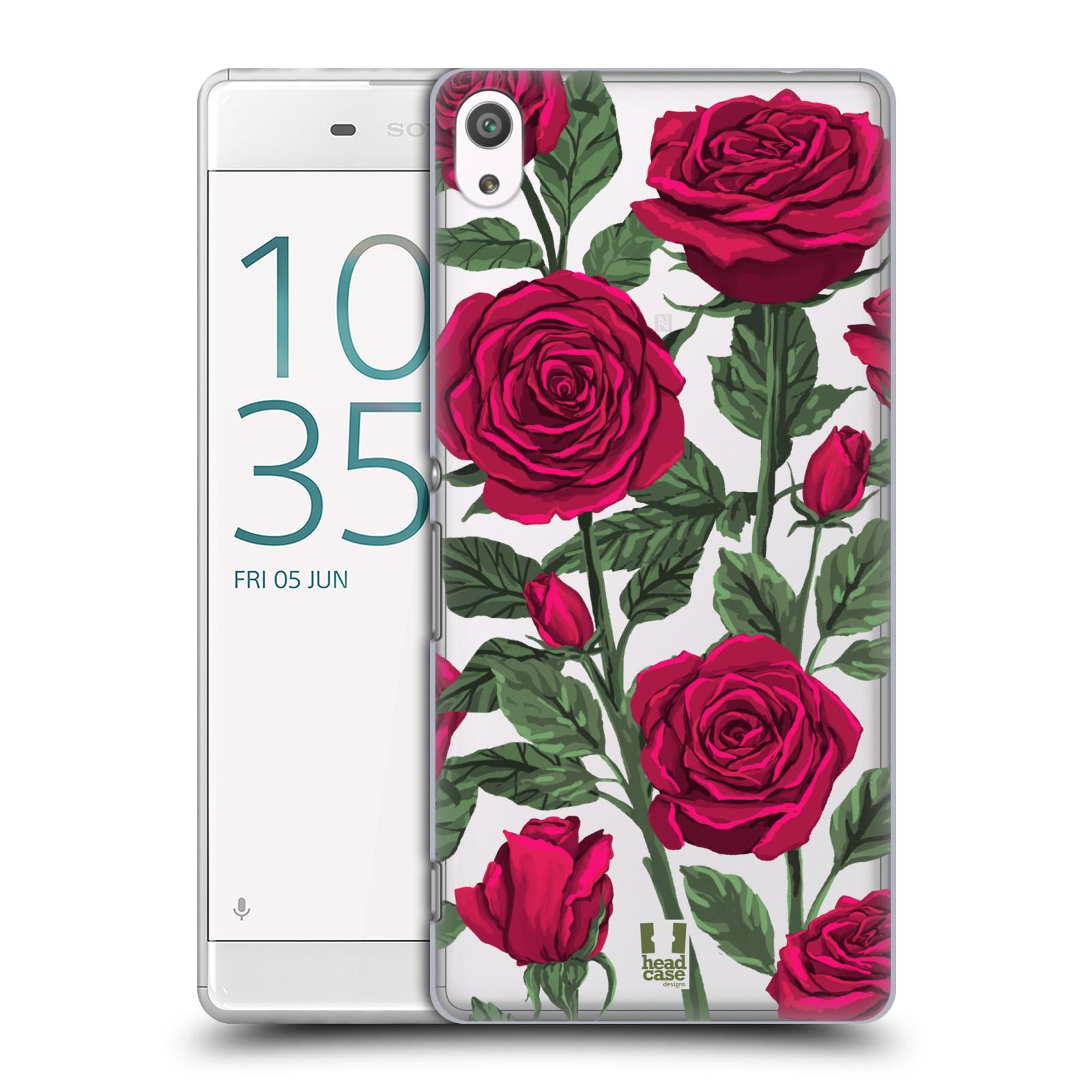 Pouzdro na mobil Sony Xperia XA ULTRA - HEAD CASE - květina růže