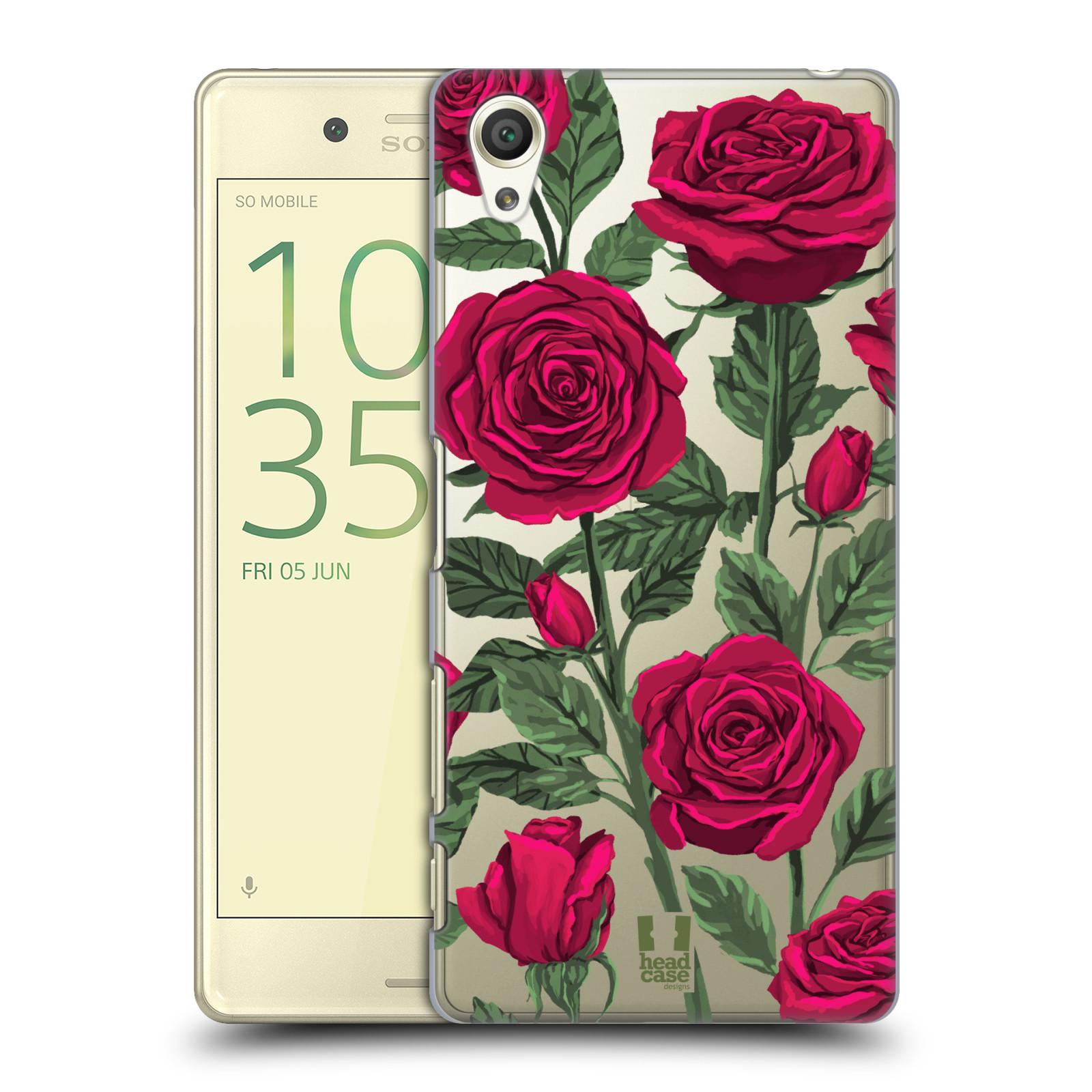 Pouzdro na mobil Sony Xperia X - HEAD CASE - květina růže