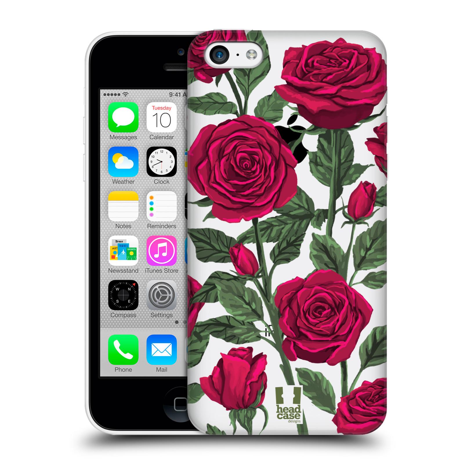 Pouzdro na mobil Apple Iphone 5C - HEAD CASE - květina růže