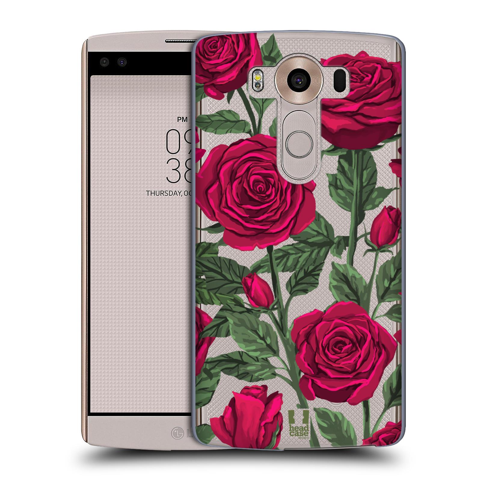 Pouzdro na mobil LG V10 - HEAD CASE - květina růže