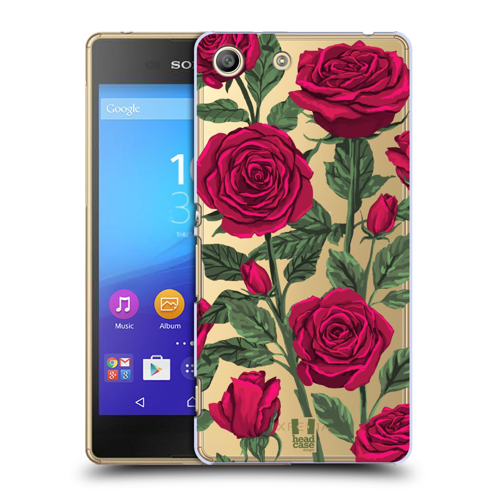 Pouzdro na mobil Sony Xperia M5 - HEAD CASE - květina růže
