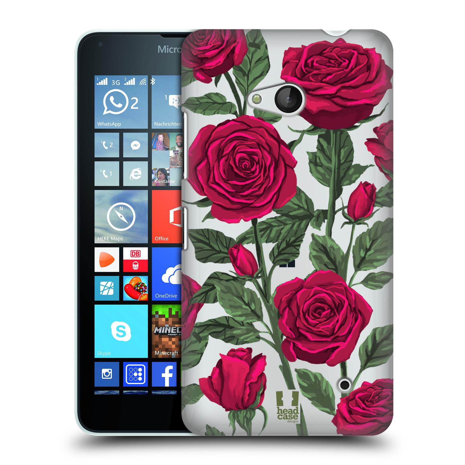 Pouzdro na mobil Microsoft Lumia 640 / 640 DUAL SIM - HEAD CASE - květina růže
