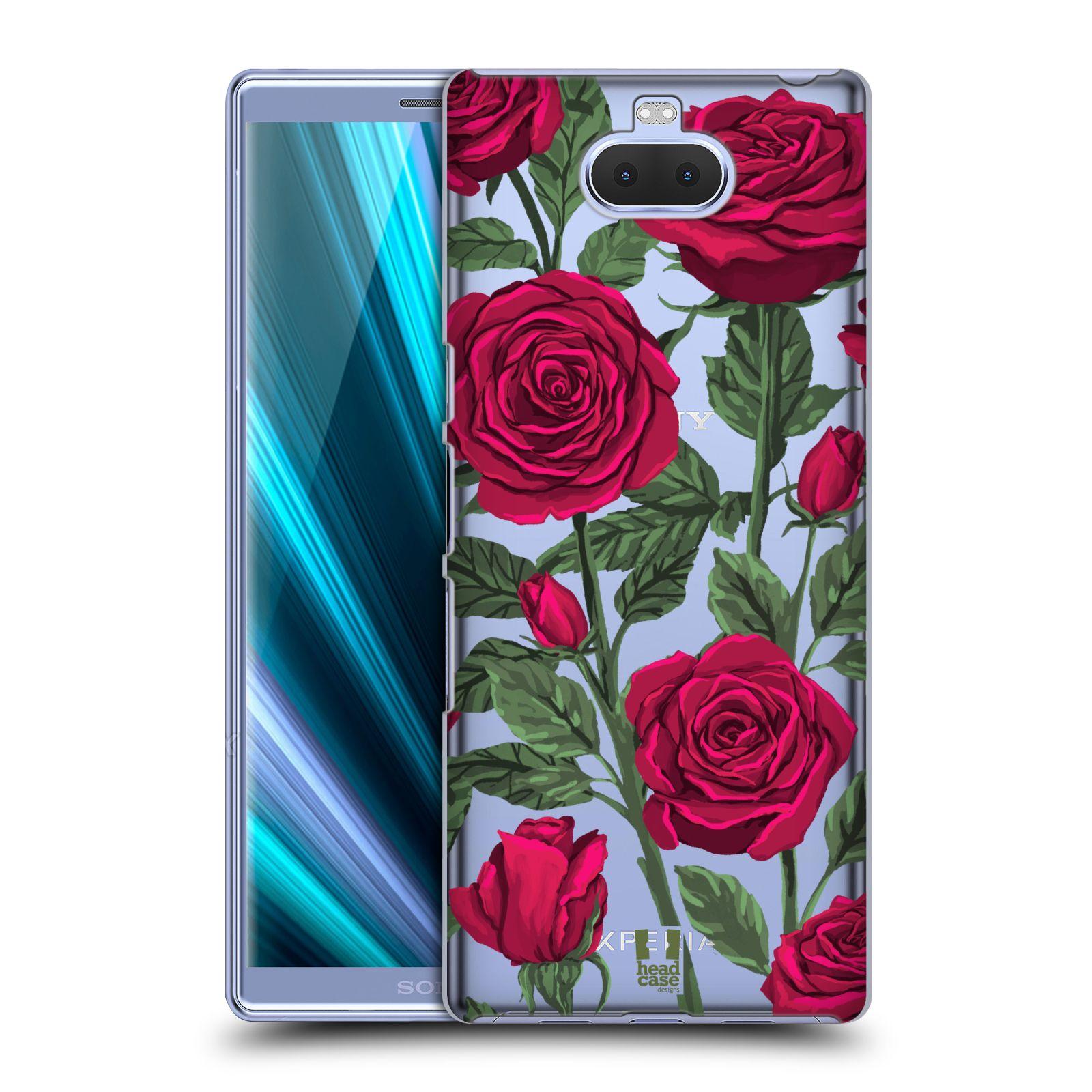 Pouzdro na mobil Sony Xperia 10 Plus - HEAD CASE - květina růže