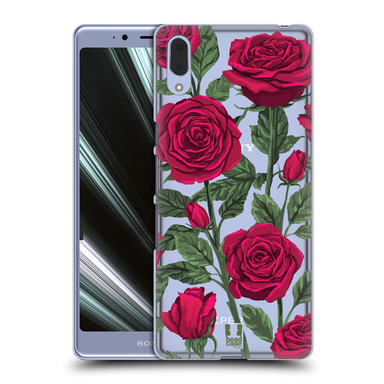 Pouzdro na mobil Sony Xperia L3 - HEAD CASE - květina růže