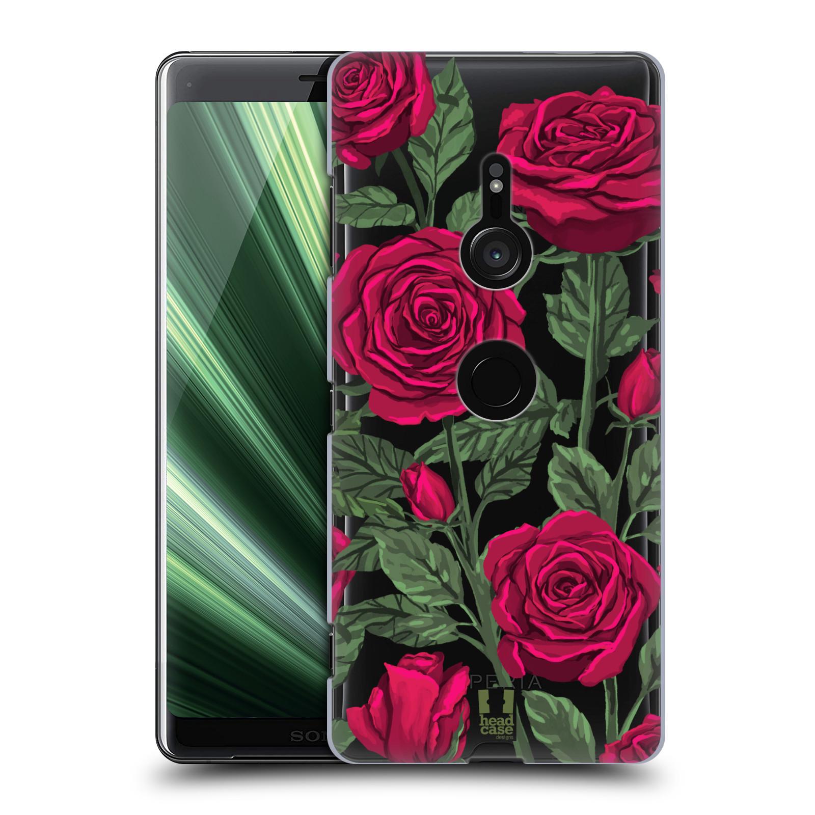 Pouzdro na mobil Sony Xperia XZ3 - HEAD CASE - květina růže