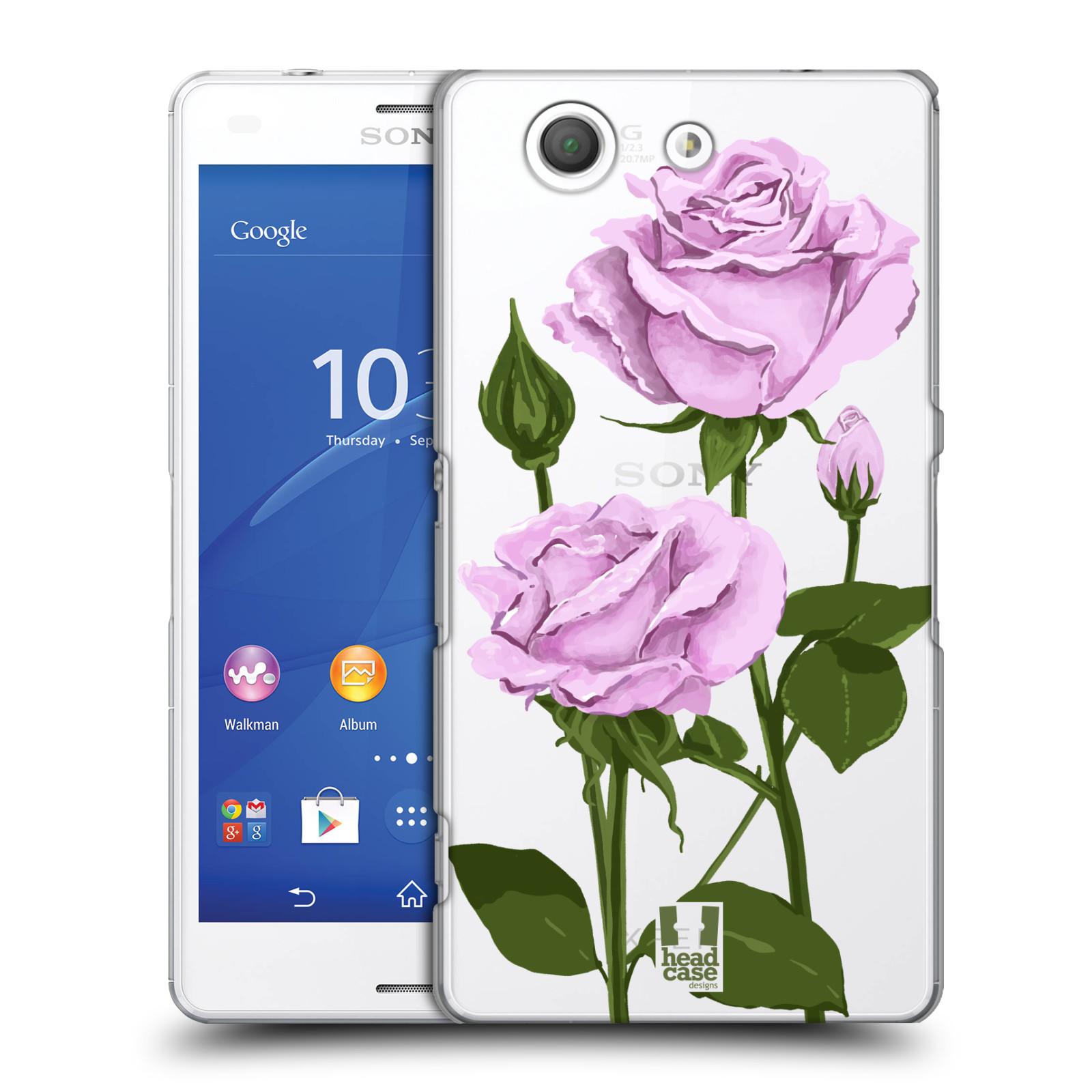 Pouzdro na mobil Sony Xperia Z3 COMPACT - HEAD CASE - květina růže růžová