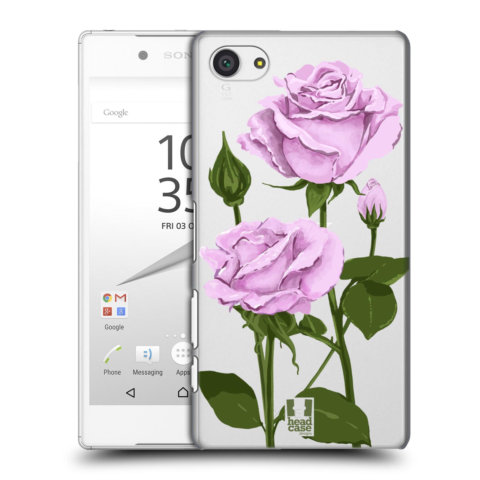 Pouzdro na mobil Sony Xperia Z5 COMPACT - HEAD CASE - květina růže růžová