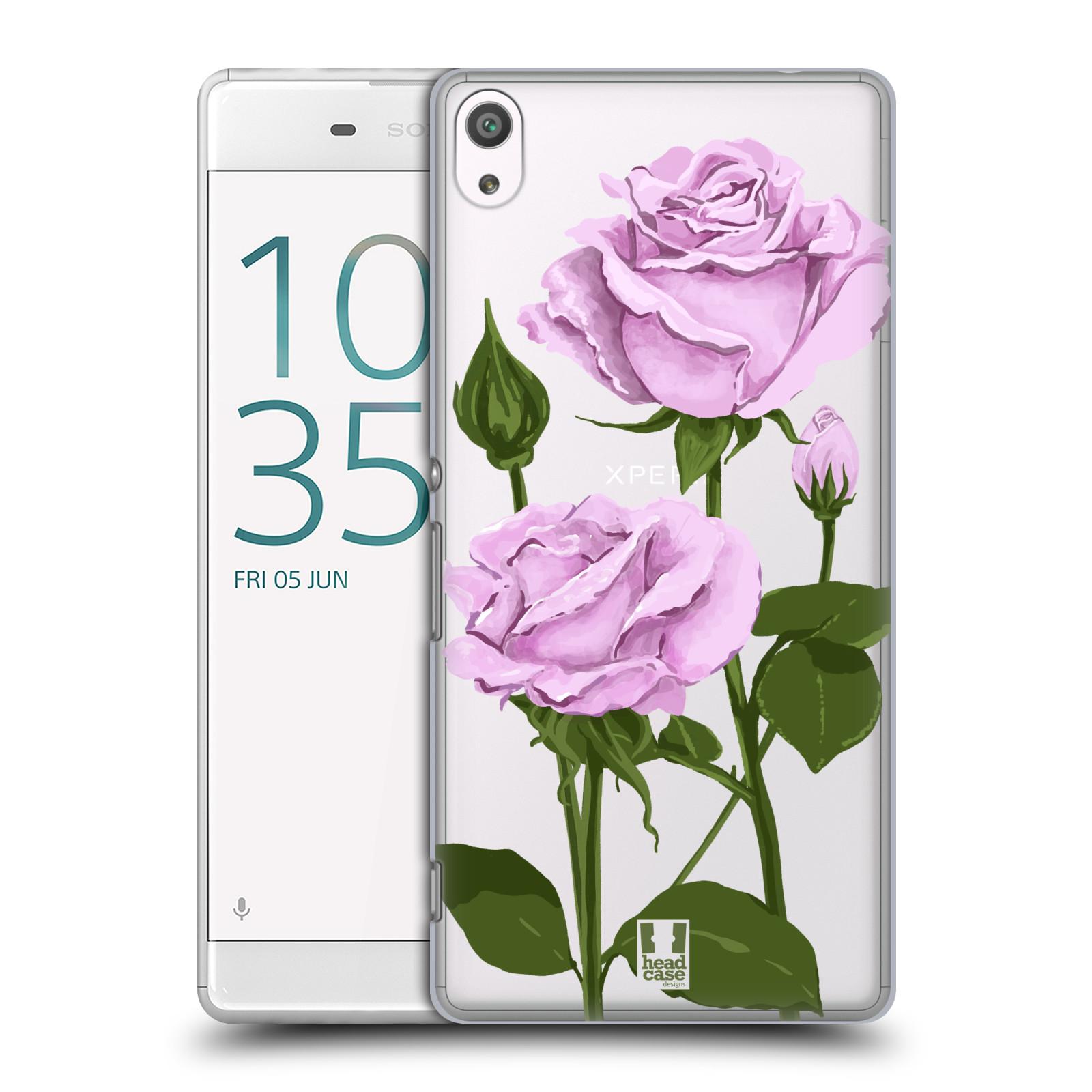 Pouzdro na mobil Sony Xperia XA ULTRA - HEAD CASE - květina růže růžová