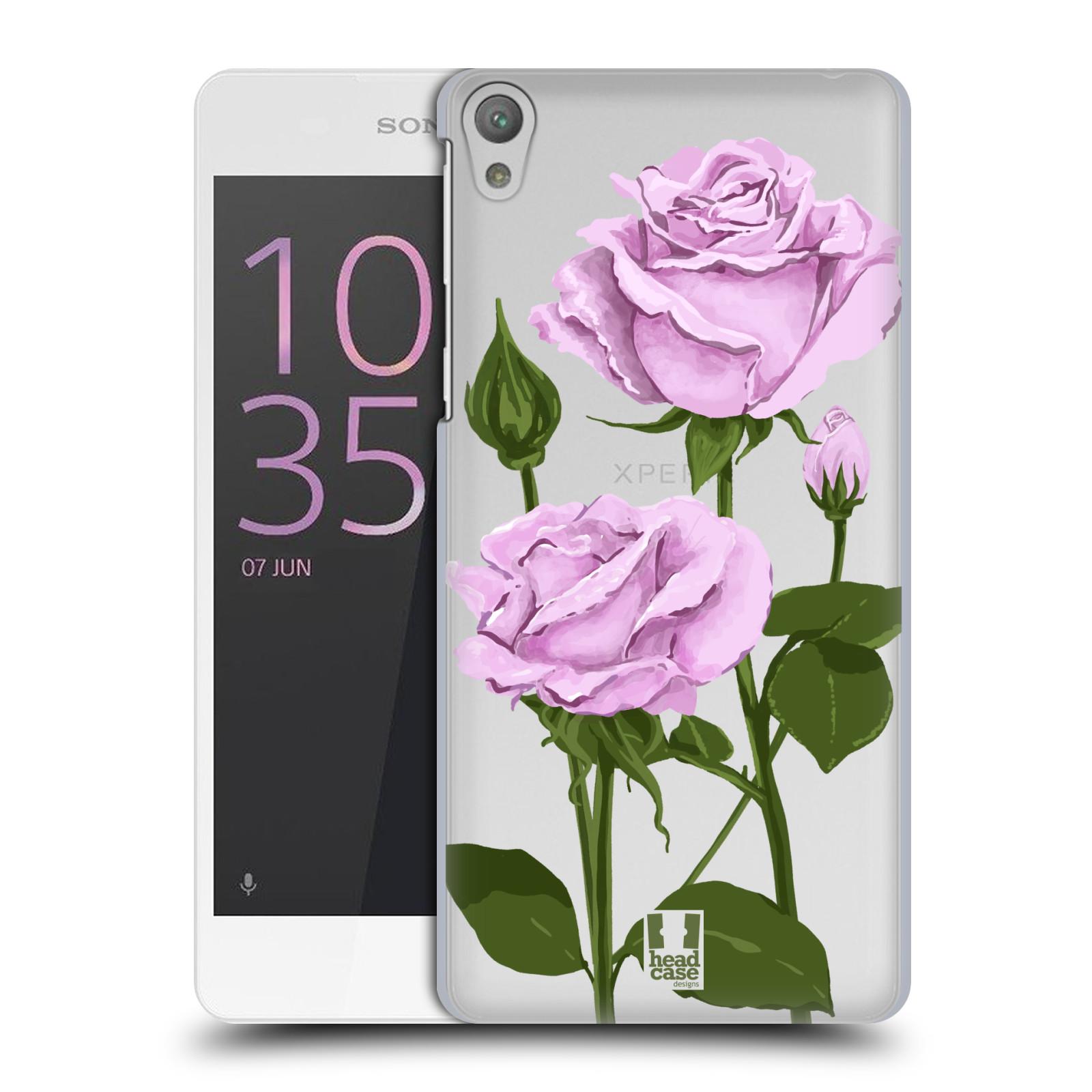 Pouzdro na mobil Sony Xperia E5 - HEAD CASE - květina růže růžová