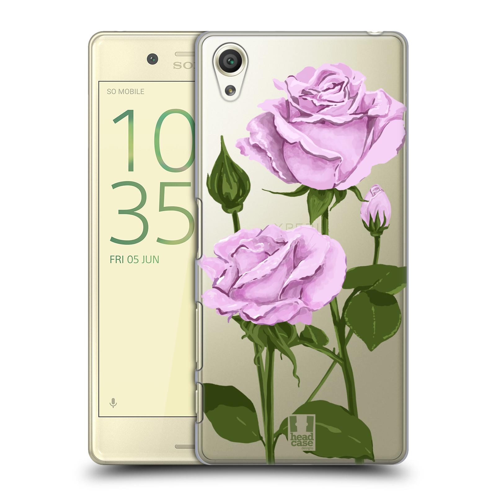 Pouzdro na mobil Sony Xperia X - HEAD CASE - květina růže růžová