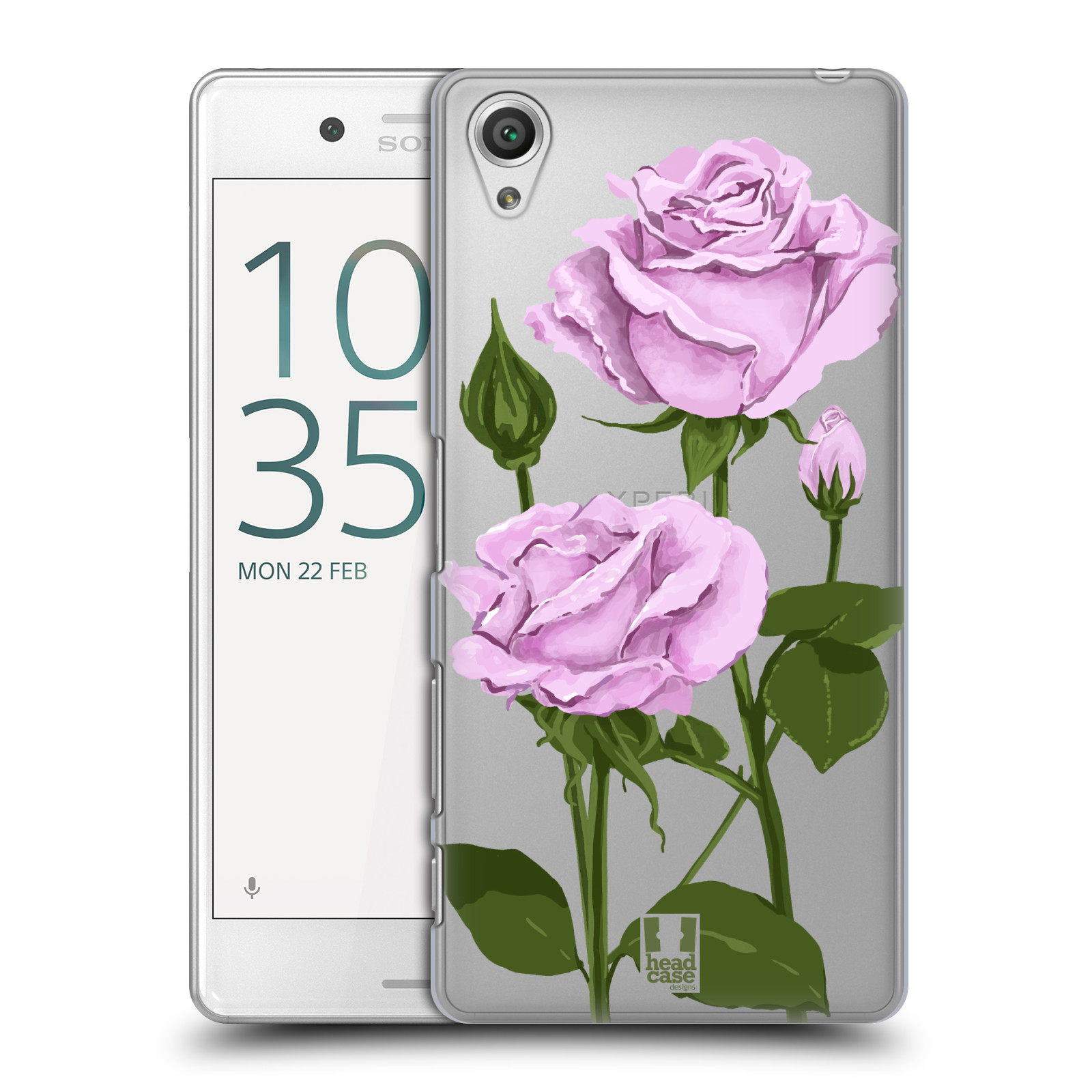 Pouzdro na mobil Sony Xperia X PERFORMANCE - HEAD CASE - květina růže růžová