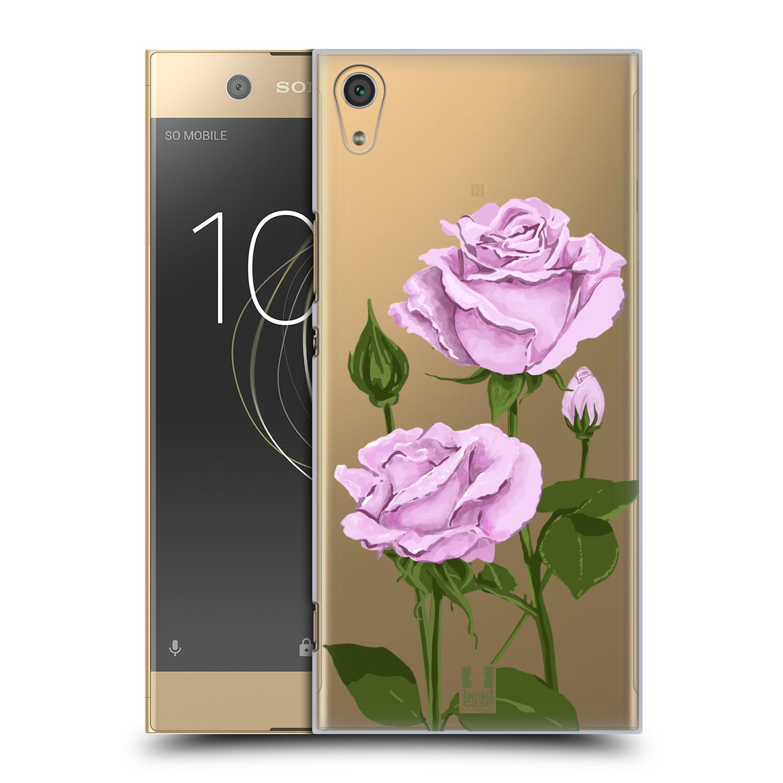 Pouzdro na mobil Sony Xperia XA1 ULTRA - HEAD CASE - květina růže růžová