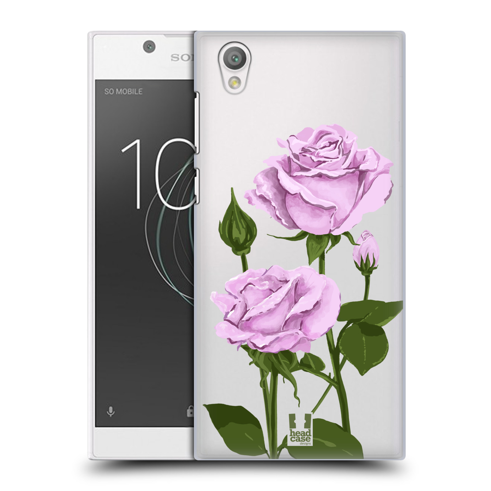Pouzdro na mobil Sony Xperia L1 - HEAD CASE - květina růže růžová