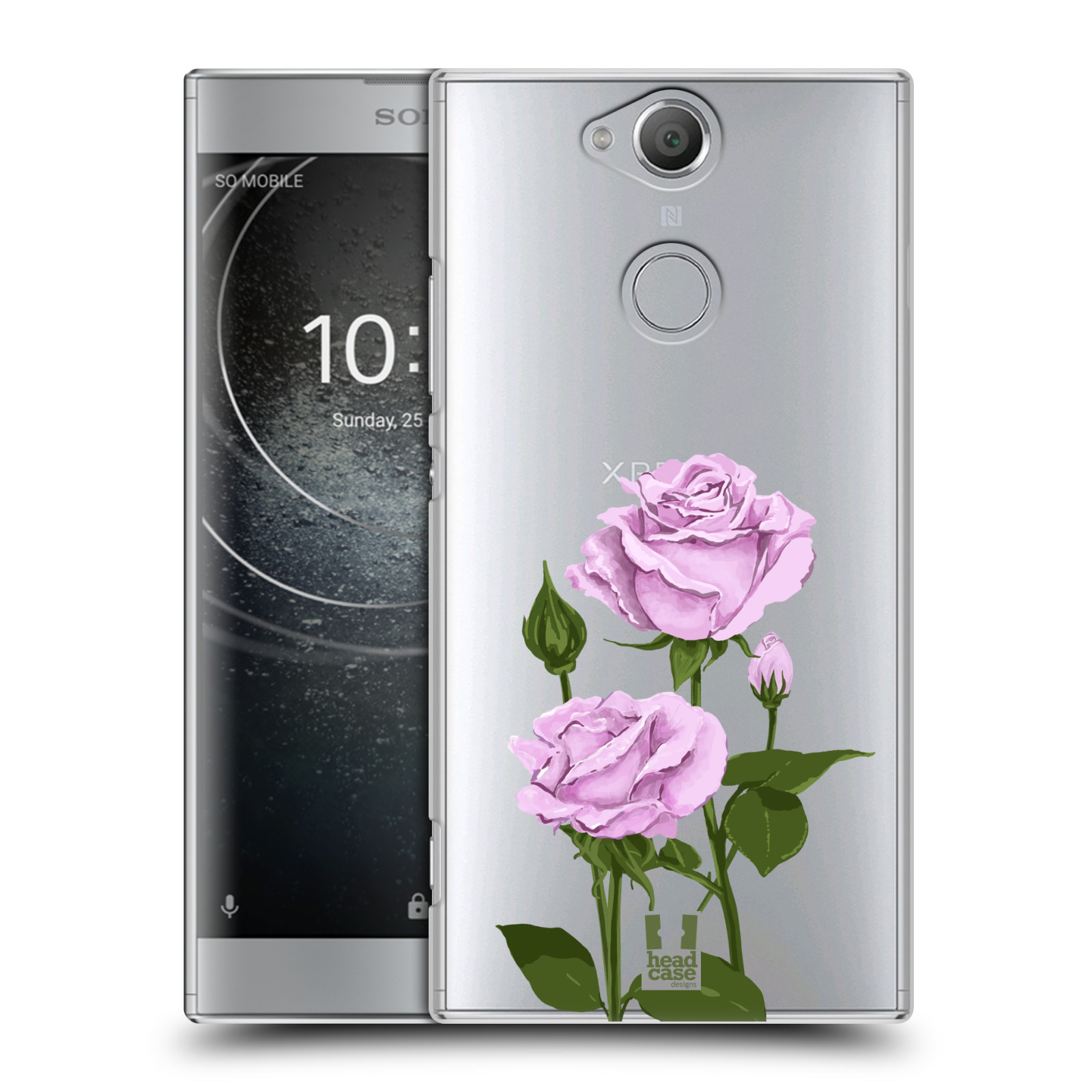 Pouzdro na mobil Sony Xperia XA2 - HEAD CASE - květina růže růžová