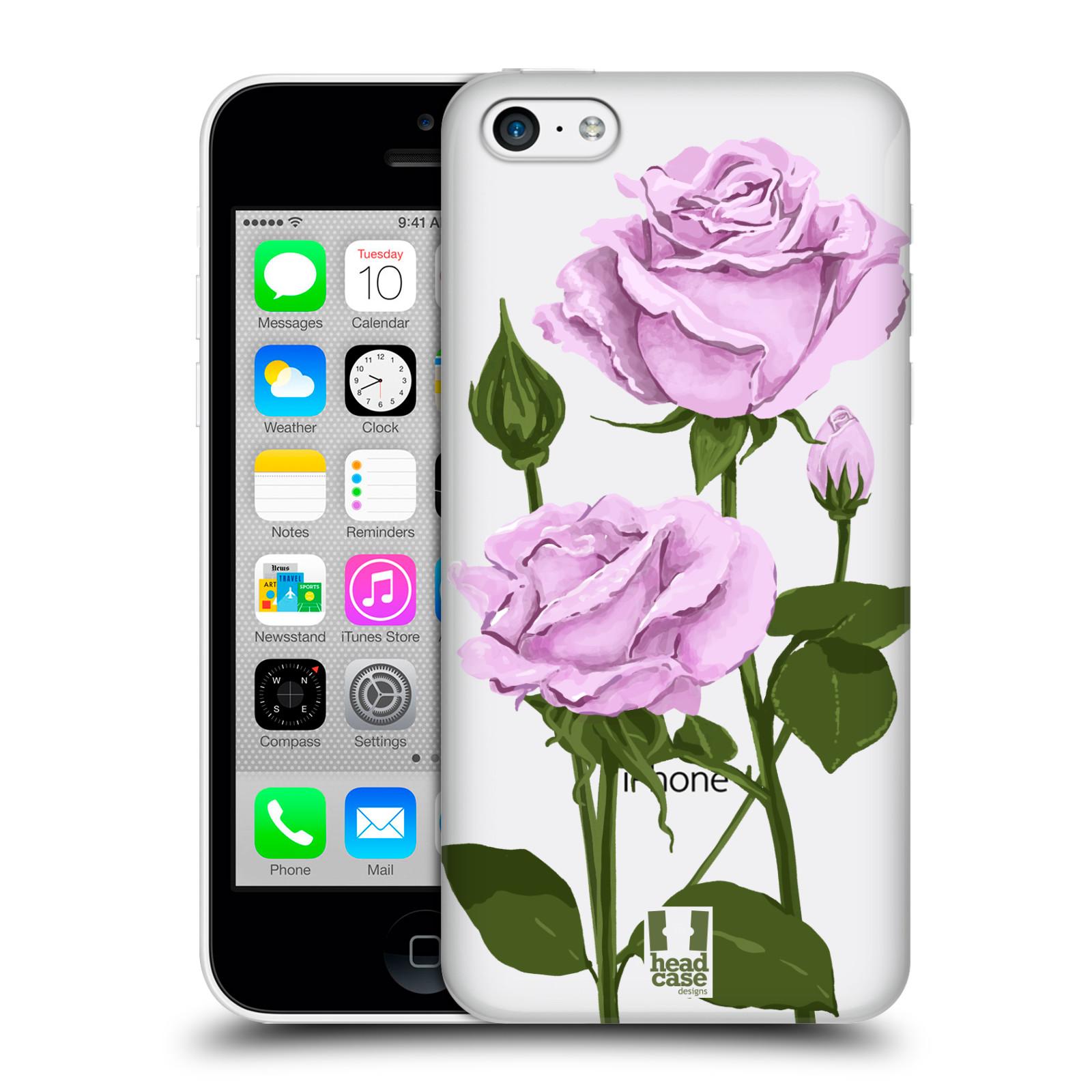 Pouzdro na mobil Apple Iphone 5C - HEAD CASE - květina růže růžová