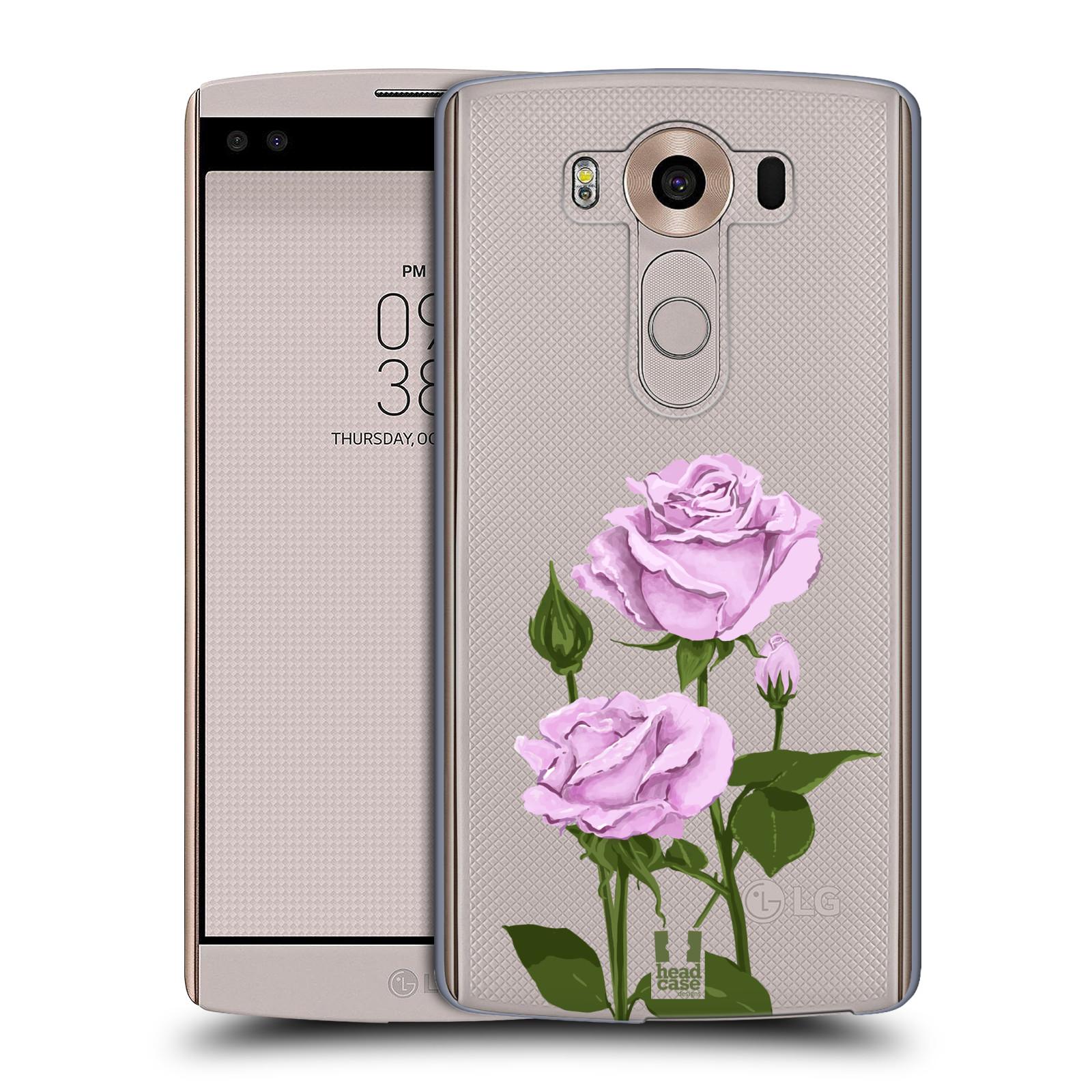 Pouzdro na mobil LG V10 - HEAD CASE - květina růže růžová
