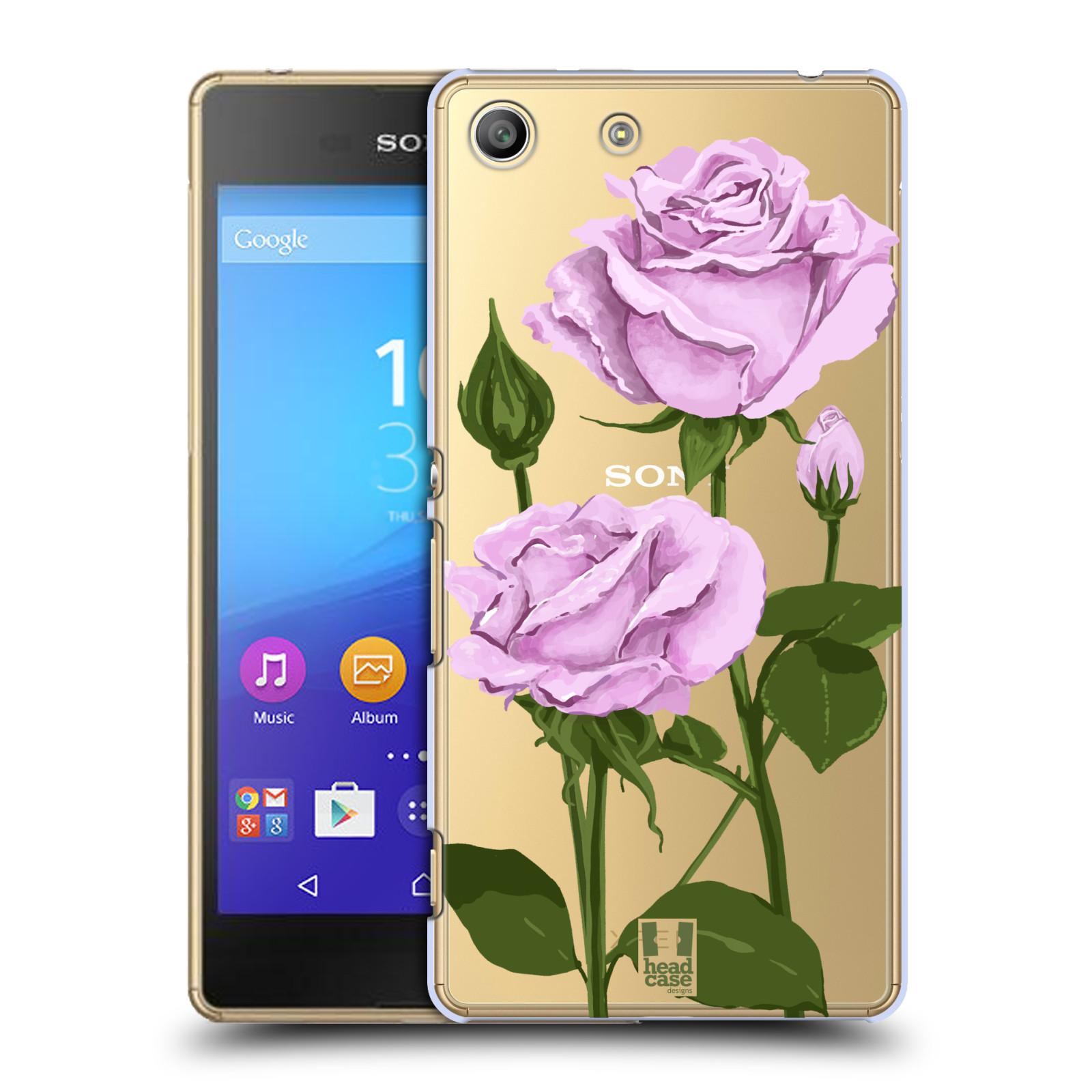 Pouzdro na mobil Sony Xperia M5 - HEAD CASE - květina růže růžová